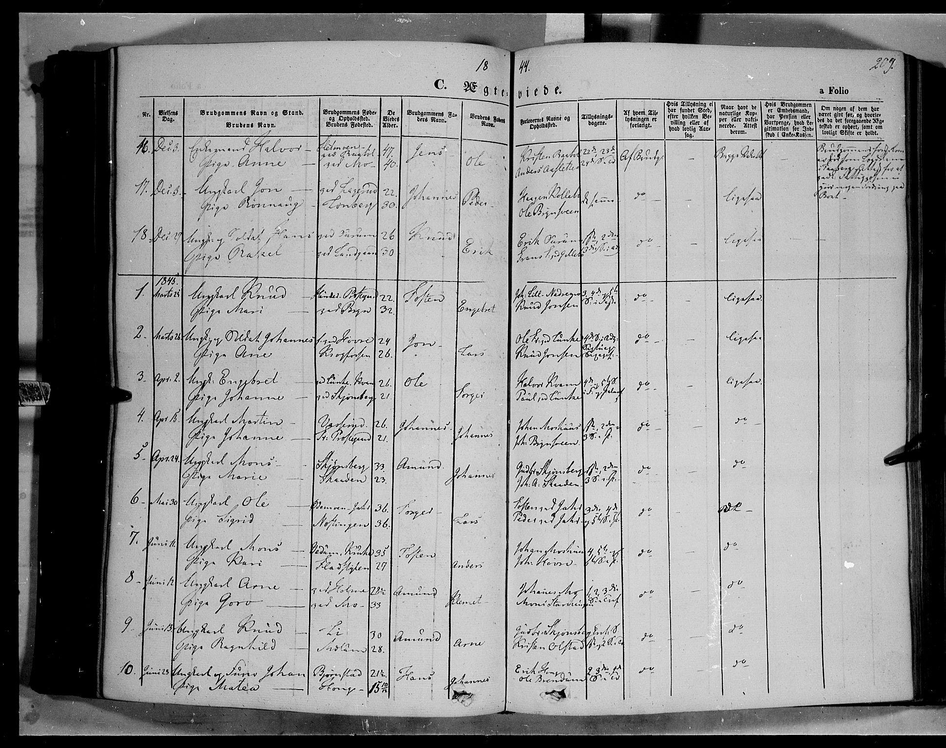 SAH, Øyer prestekontor, Ministerialbok nr. 5, 1842-1857, s. 209