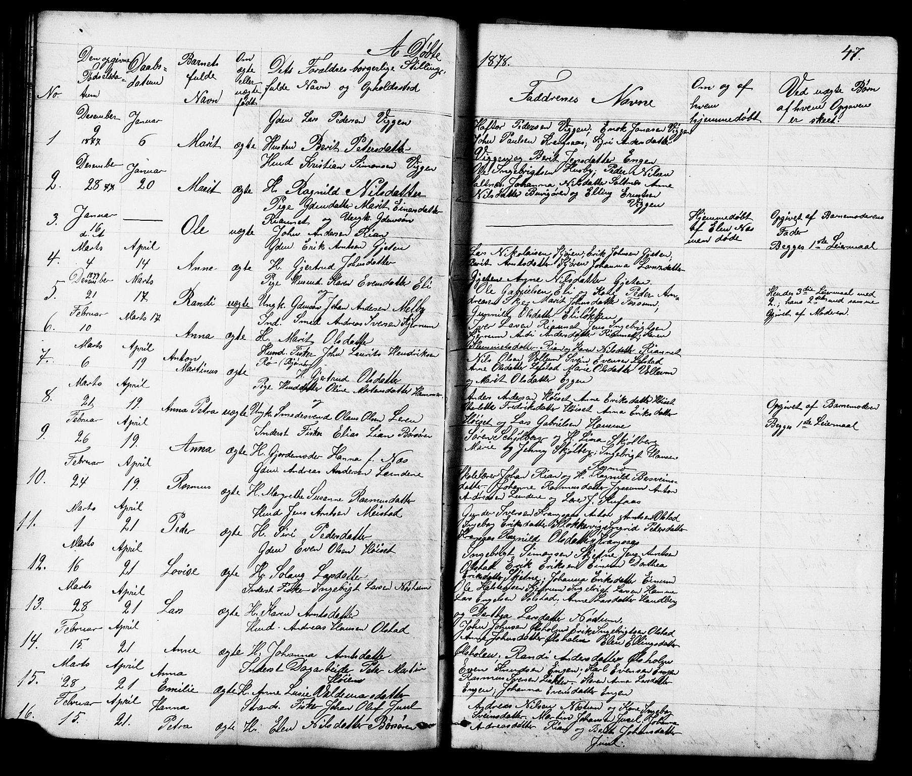 SAT, Ministerialprotokoller, klokkerbøker og fødselsregistre - Sør-Trøndelag, 665/L0777: Klokkerbok nr. 665C02, 1867-1915, s. 47