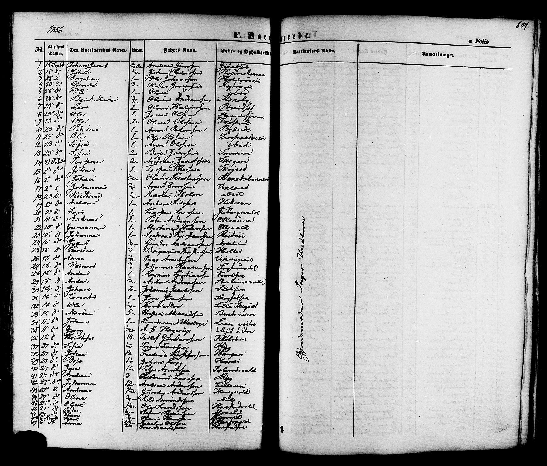SAT, Ministerialprotokoller, klokkerbøker og fødselsregistre - Nord-Trøndelag, 713/L0116: Ministerialbok nr. 713A07 /1, 1850-1877, s. 604