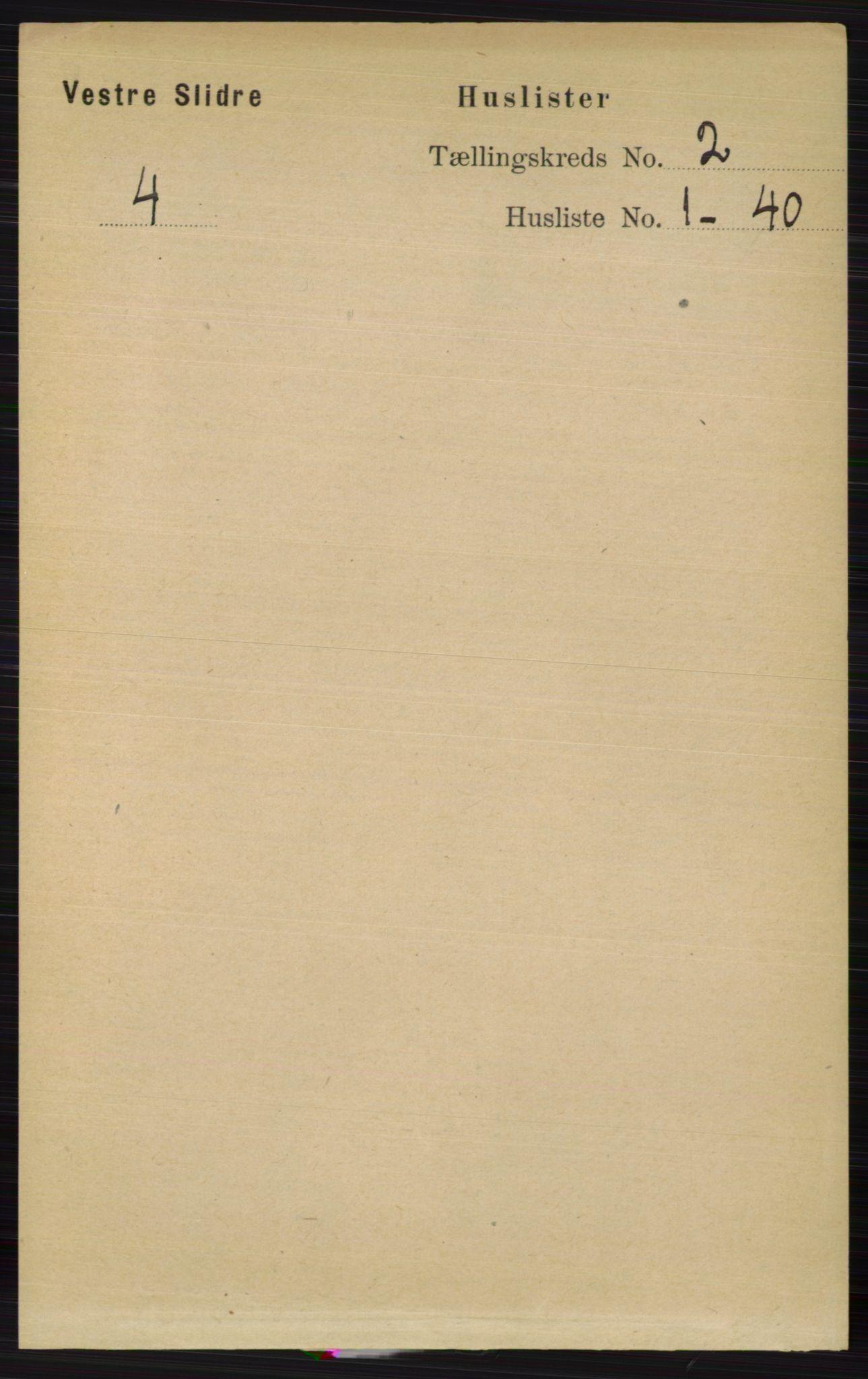 RA, Folketelling 1891 for 0543 Vestre Slidre herred, 1891, s. 458