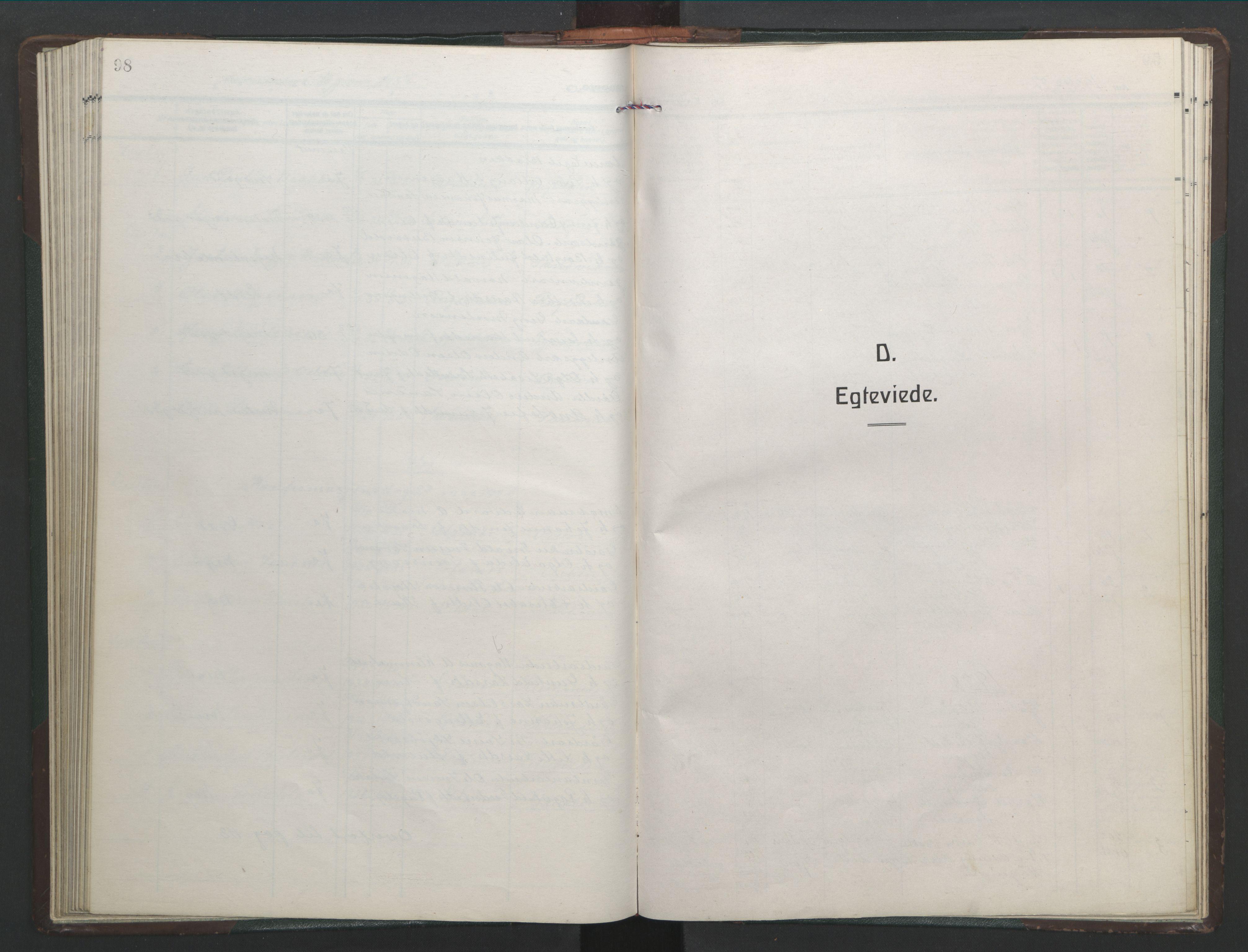 SAT, Ministerialprotokoller, klokkerbøker og fødselsregistre - Sør-Trøndelag, 682/L0947: Klokkerbok nr. 682C01, 1926-1968, s. 98