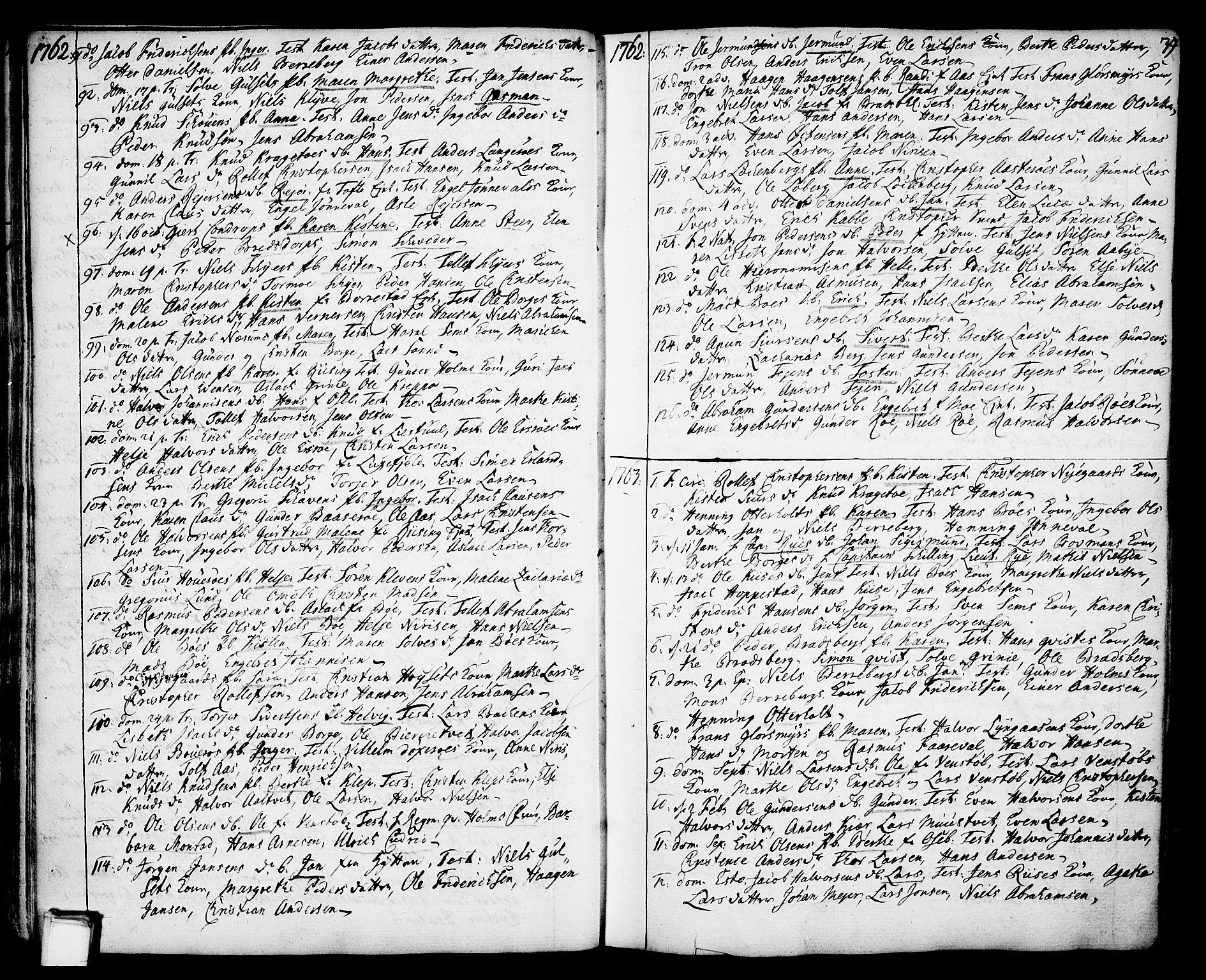 SAKO, Gjerpen kirkebøker, F/Fa/L0002: Ministerialbok nr. 2, 1747-1795, s. 39