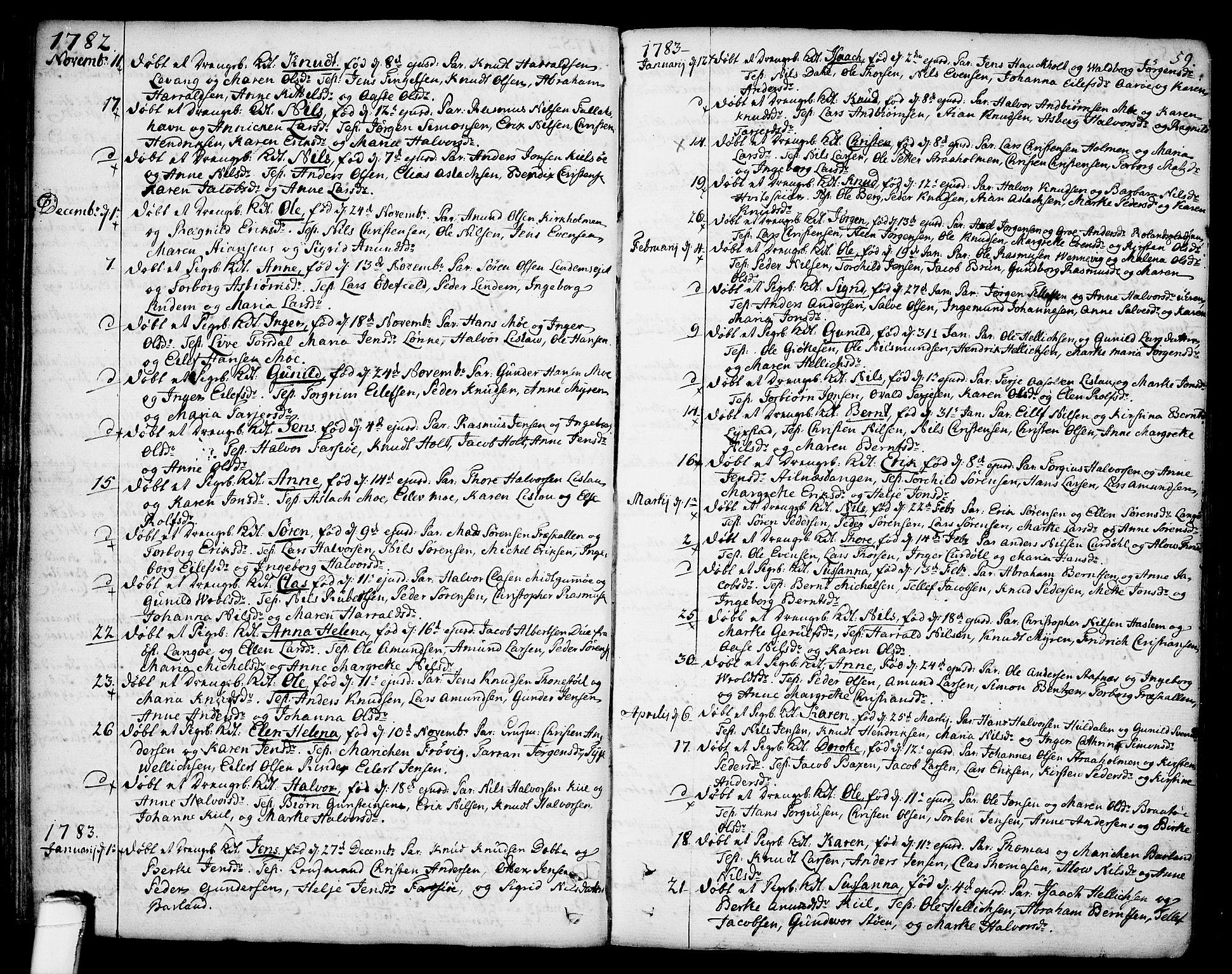 SAKO, Sannidal kirkebøker, F/Fa/L0002: Ministerialbok nr. 2, 1767-1802, s. 59