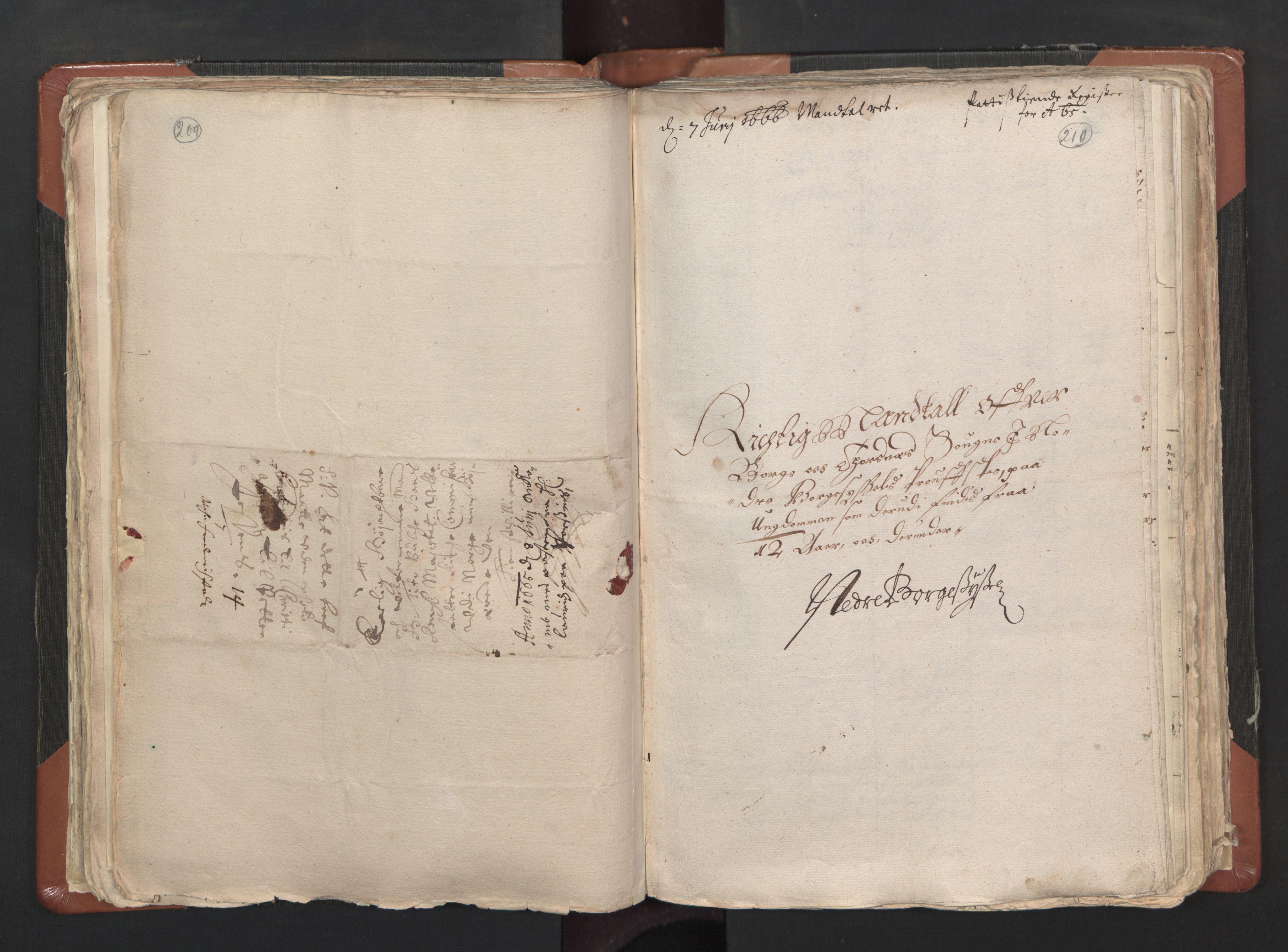 RA, Sogneprestenes manntall 1664-1666, nr. 1: Nedre Borgesyssel prosti, 1664-1666, s. 209-210