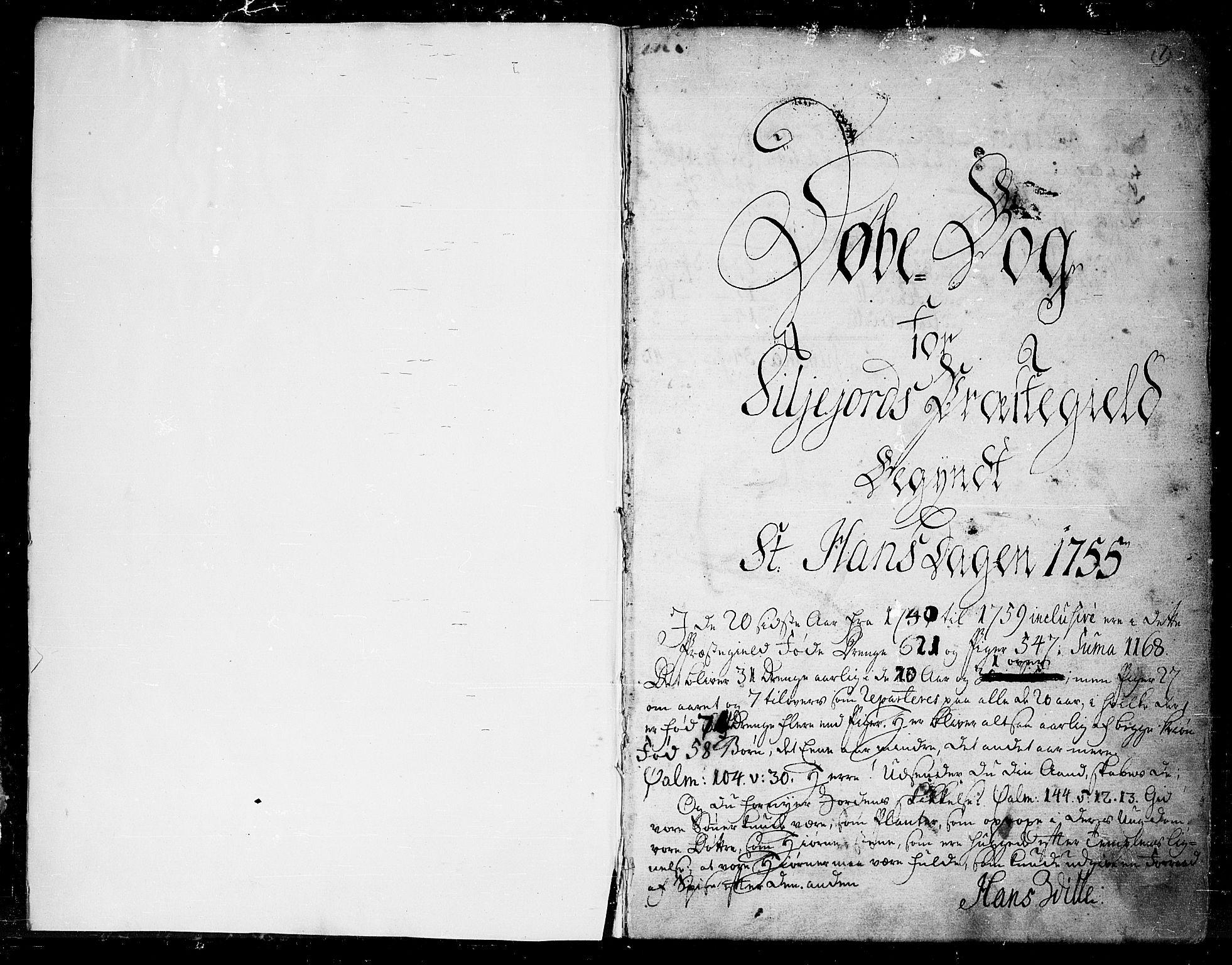 SAKO, Seljord kirkebøker, F/Fa/L0007: Ministerialbok nr. I 7, 1755-1800, s. 1