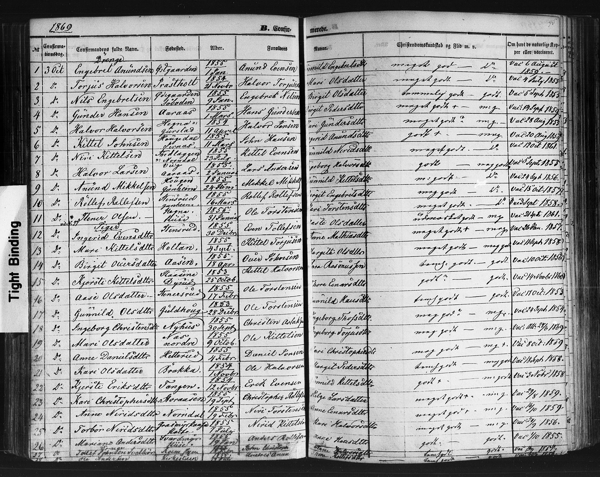 SAKO, Sauherad kirkebøker, F/Fb/L0001: Ministerialbok nr. II 1, 1851-1877, s. 95