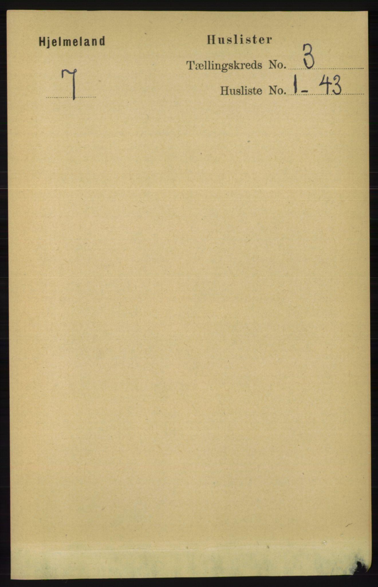 RA, Folketelling 1891 for 1133 Hjelmeland herred, 1891, s. 691