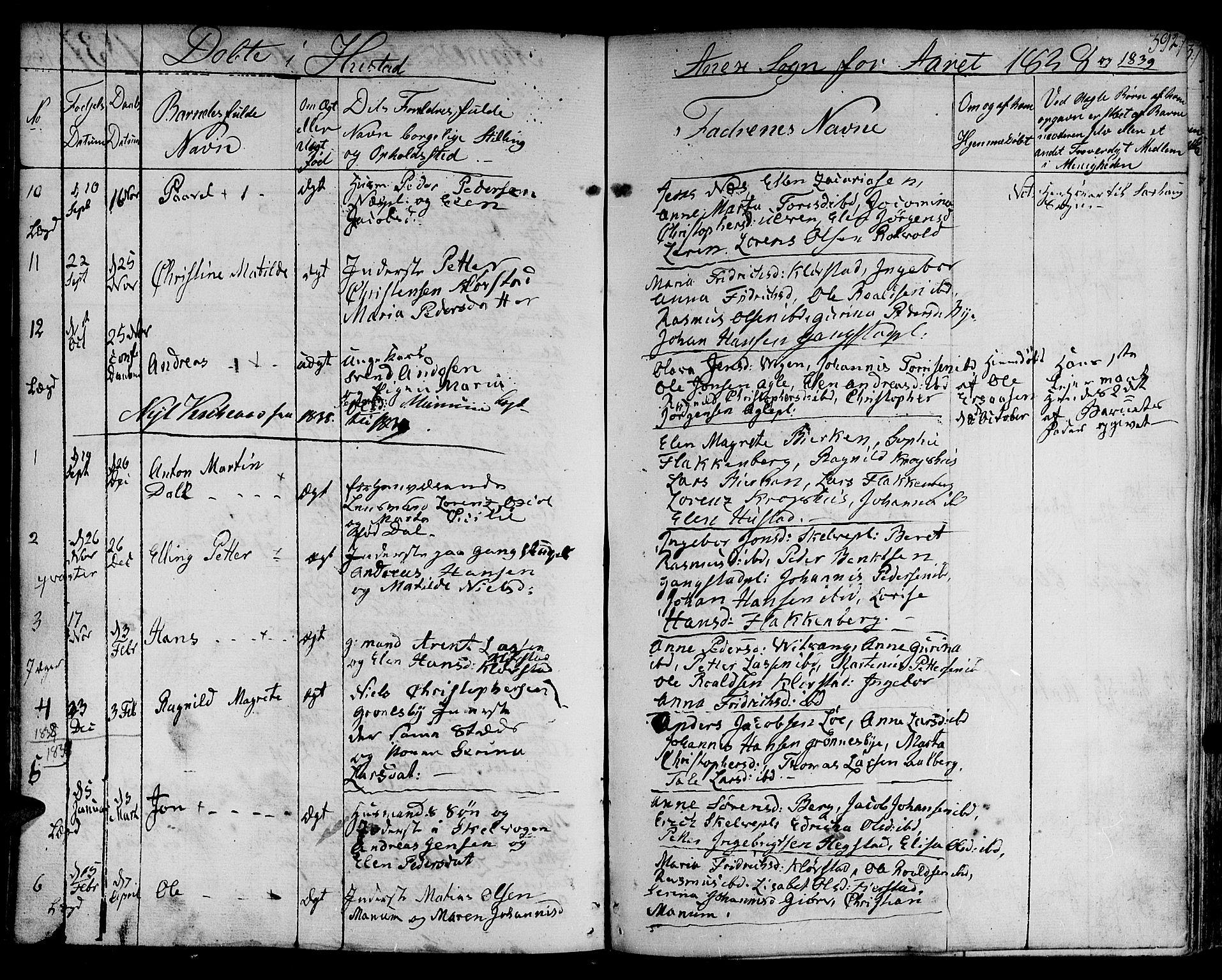 SAT, Ministerialprotokoller, klokkerbøker og fødselsregistre - Nord-Trøndelag, 730/L0277: Ministerialbok nr. 730A06 /3, 1830-1839, s. 392
