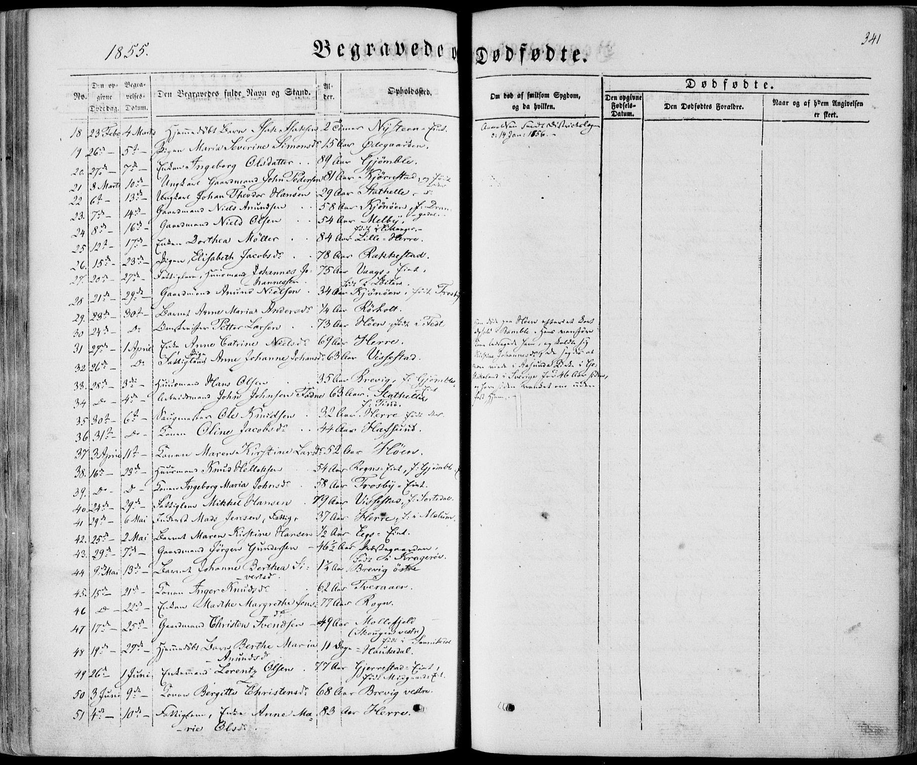 SAKO, Bamble kirkebøker, F/Fa/L0005: Ministerialbok nr. I 5, 1854-1869, s. 341