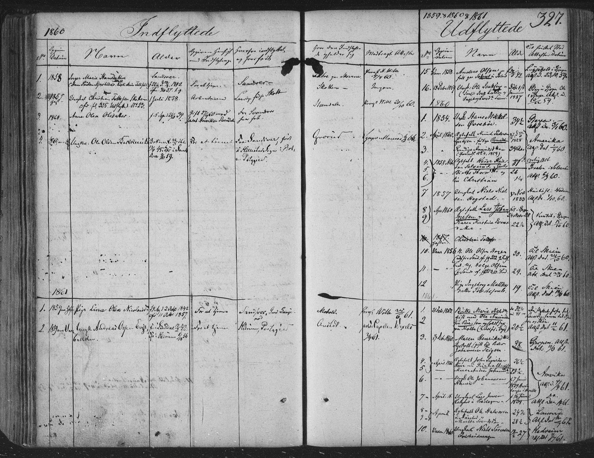 SAKO, Siljan kirkebøker, F/Fa/L0001: Ministerialbok nr. 1, 1831-1870, s. 327