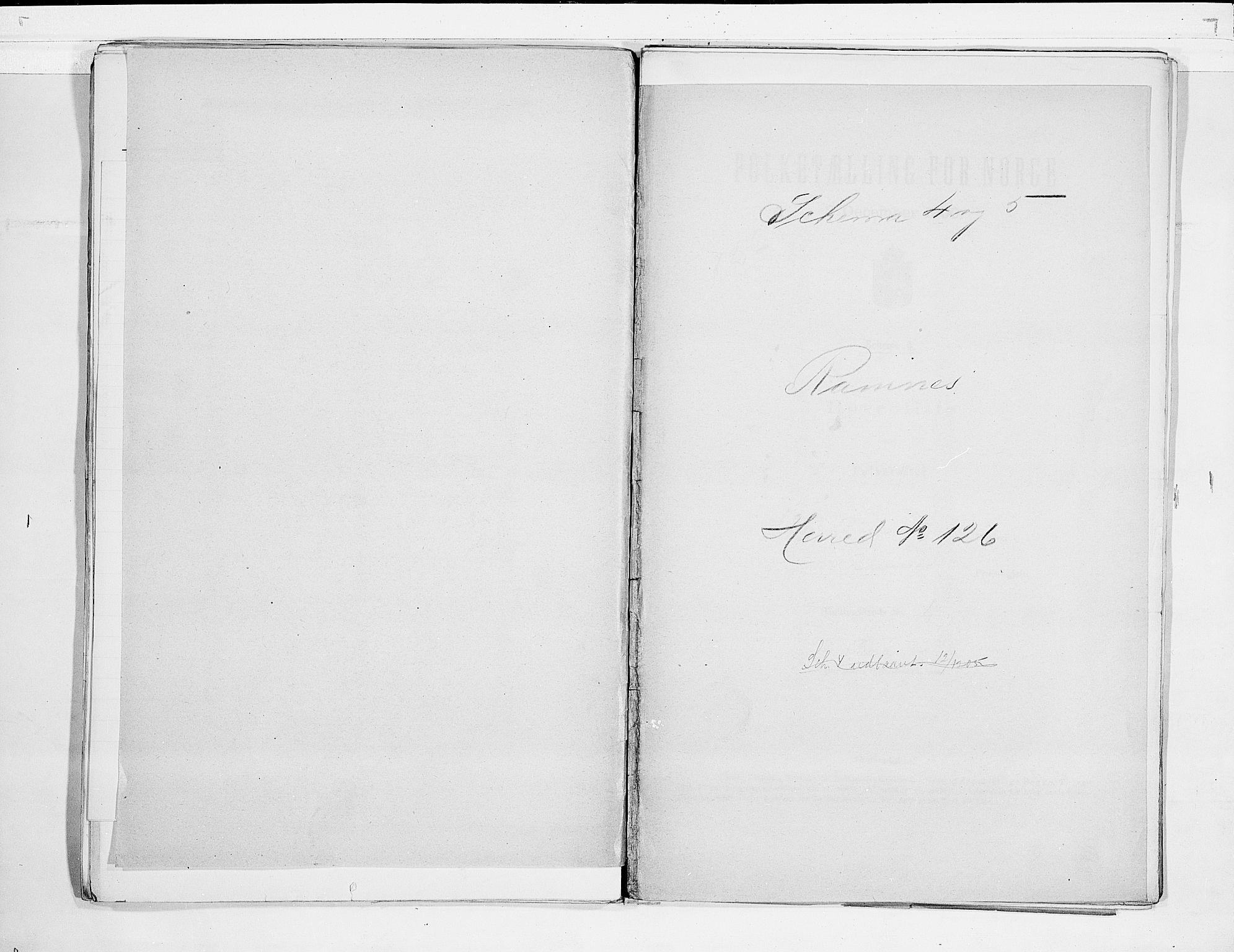 RA, Folketelling 1900 for 0718 Ramnes herred, 1900, s. 1