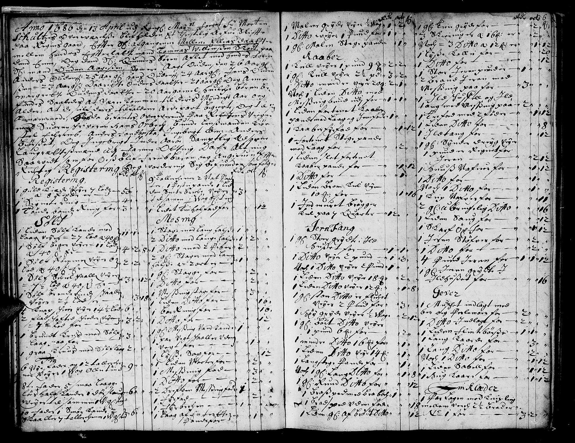 SAT, Romsdal sorenskriveri, 3/3A/L0002: Skifteprotokoll, 1683-1687, s. 35b-36a
