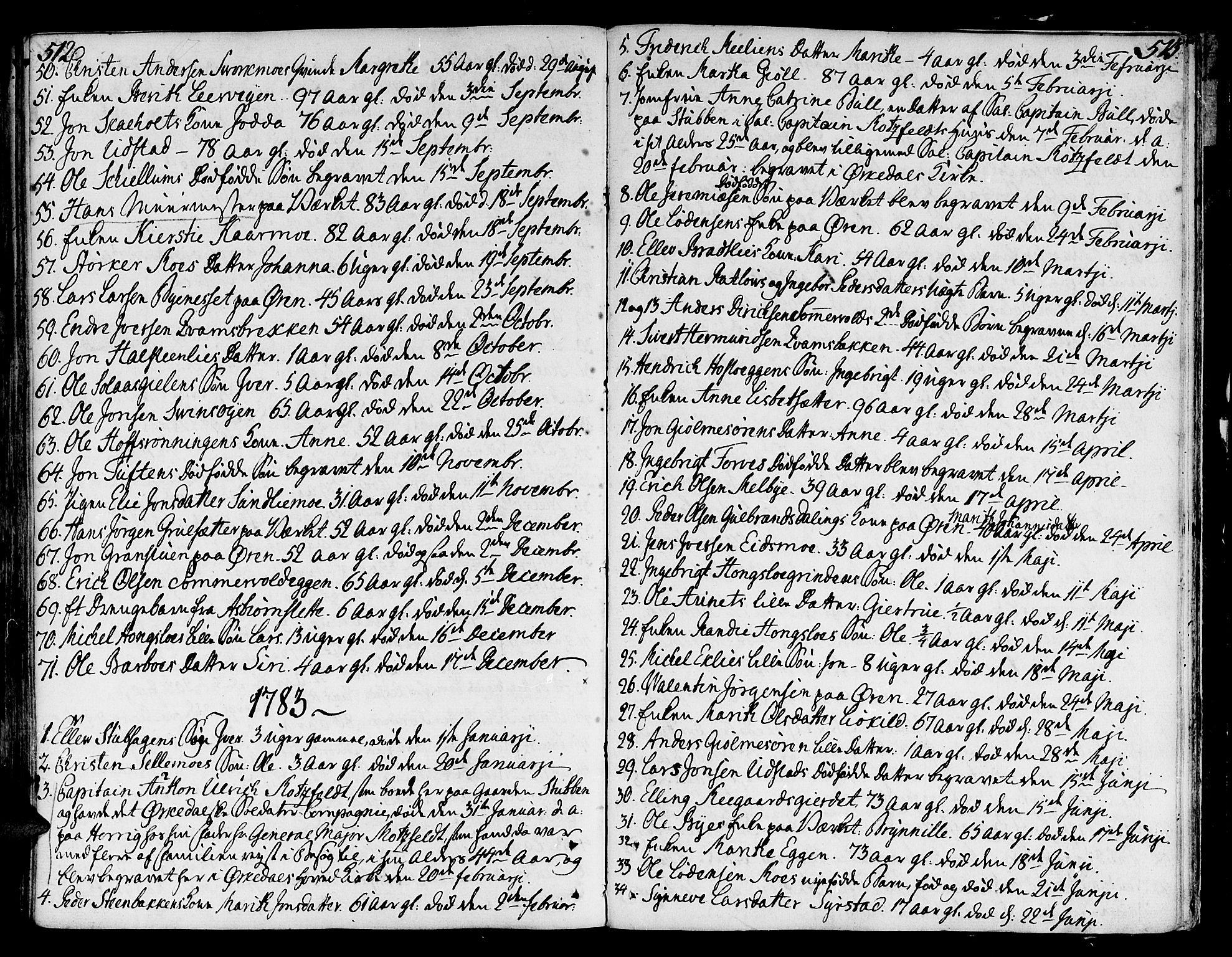 SAT, Ministerialprotokoller, klokkerbøker og fødselsregistre - Sør-Trøndelag, 668/L0802: Ministerialbok nr. 668A02, 1776-1799, s. 512-513