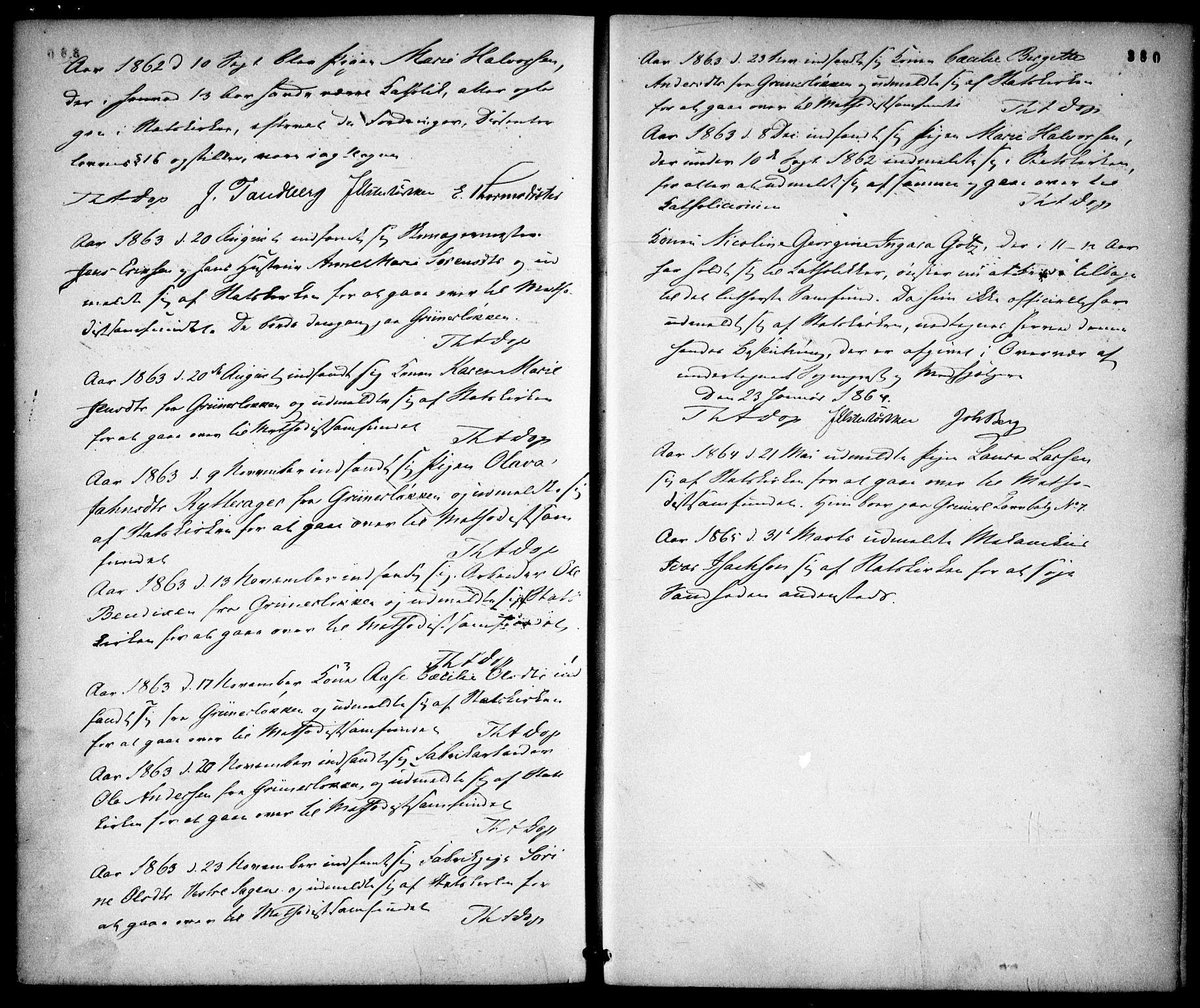 SAO, Gamle Aker prestekontor Kirkebøker, F/L0001: Ministerialbok nr. 1, 1861-1865, s. 380