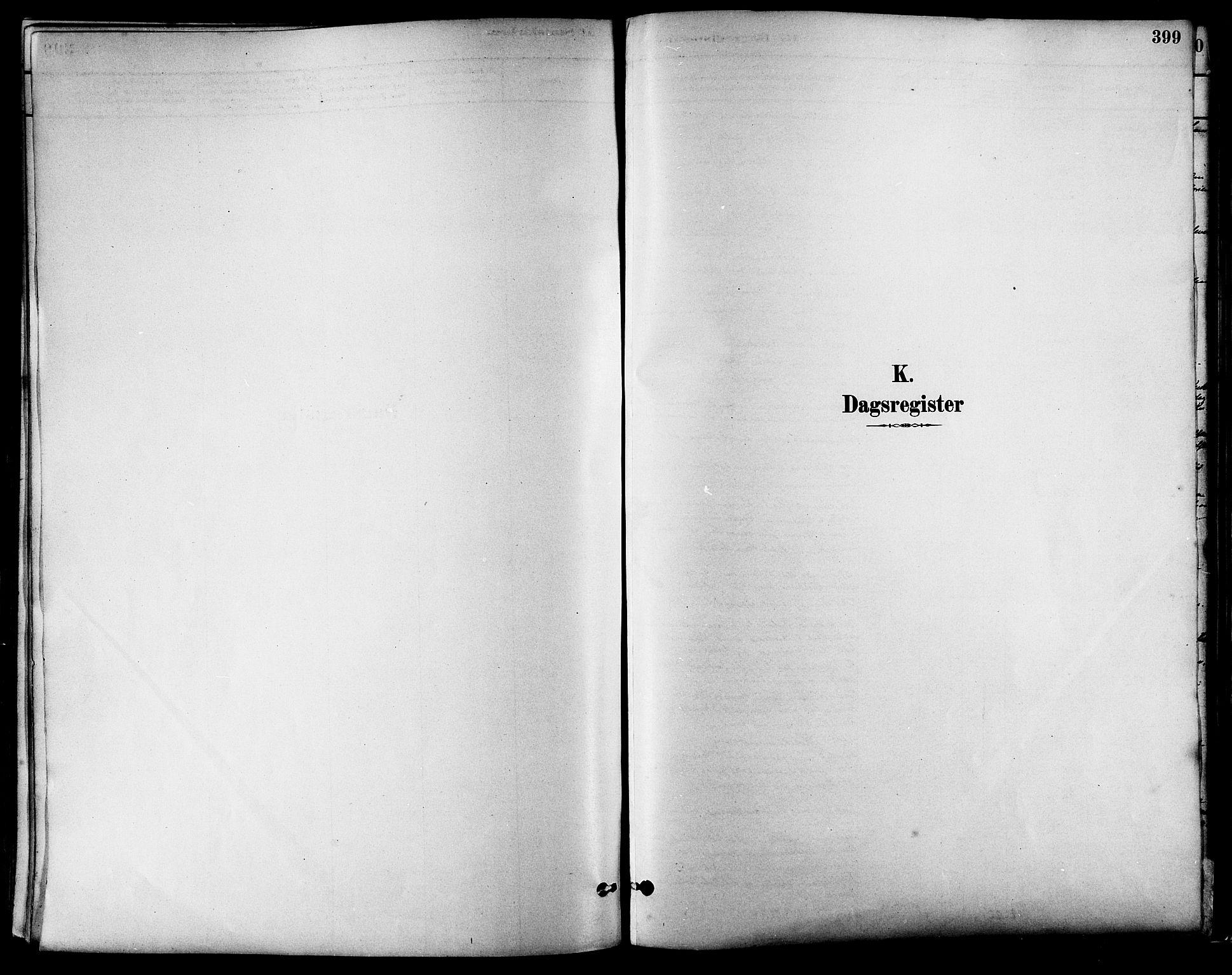 SAT, Ministerialprotokoller, klokkerbøker og fødselsregistre - Sør-Trøndelag, 630/L0496: Ministerialbok nr. 630A09, 1879-1895, s. 399