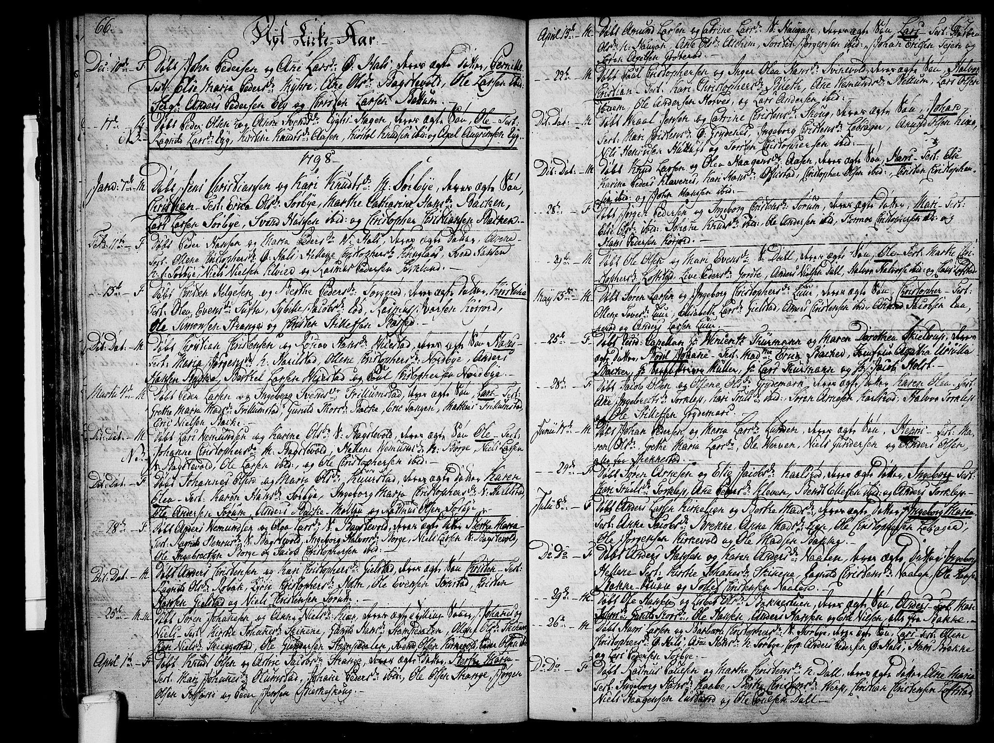 SAKO, Våle kirkebøker, F/Fa/L0005: Ministerialbok nr. I 5, 1773-1808, s. 66-67