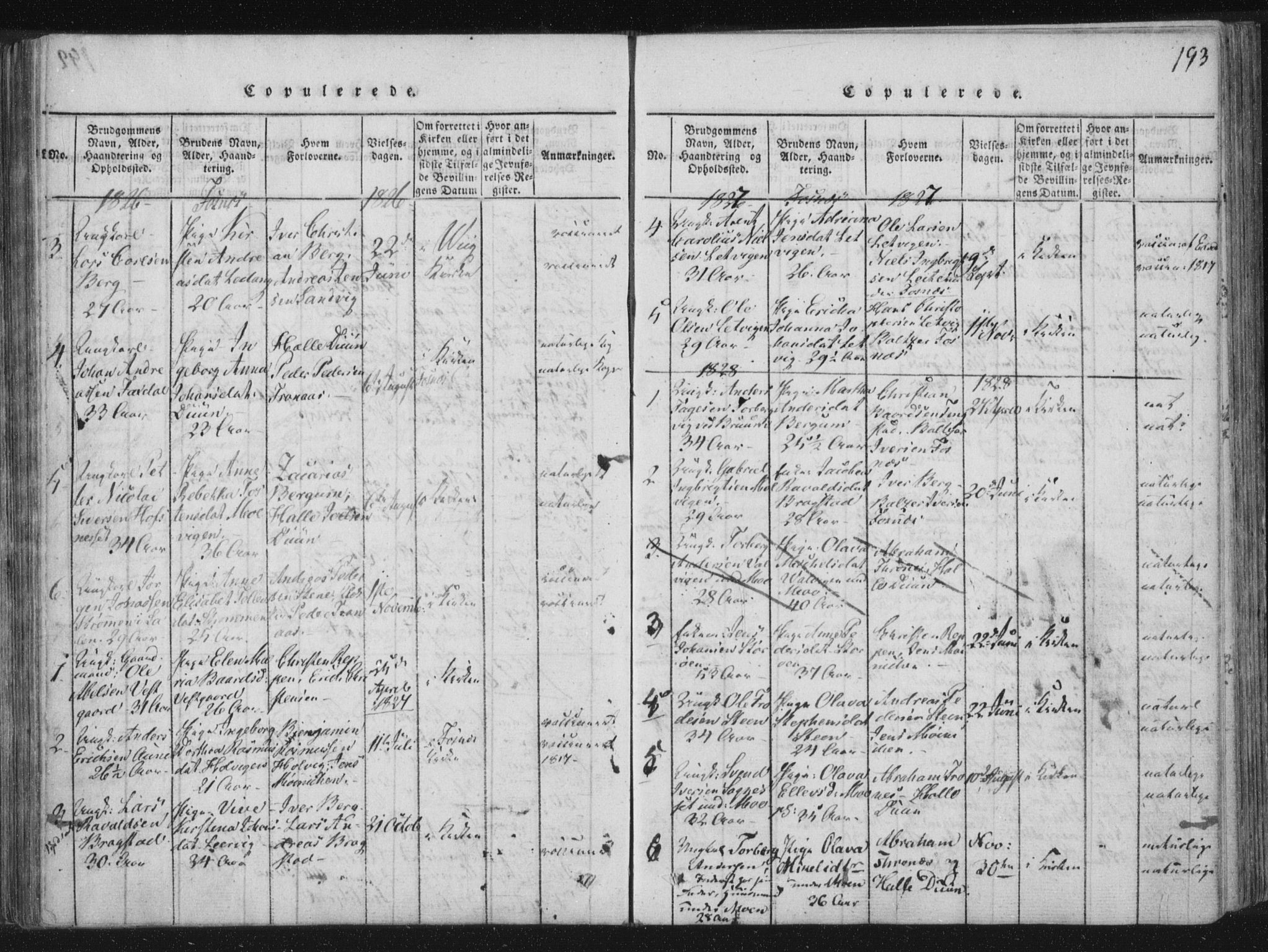 SAT, Ministerialprotokoller, klokkerbøker og fødselsregistre - Nord-Trøndelag, 773/L0609: Ministerialbok nr. 773A03 /1, 1815-1830, s. 193
