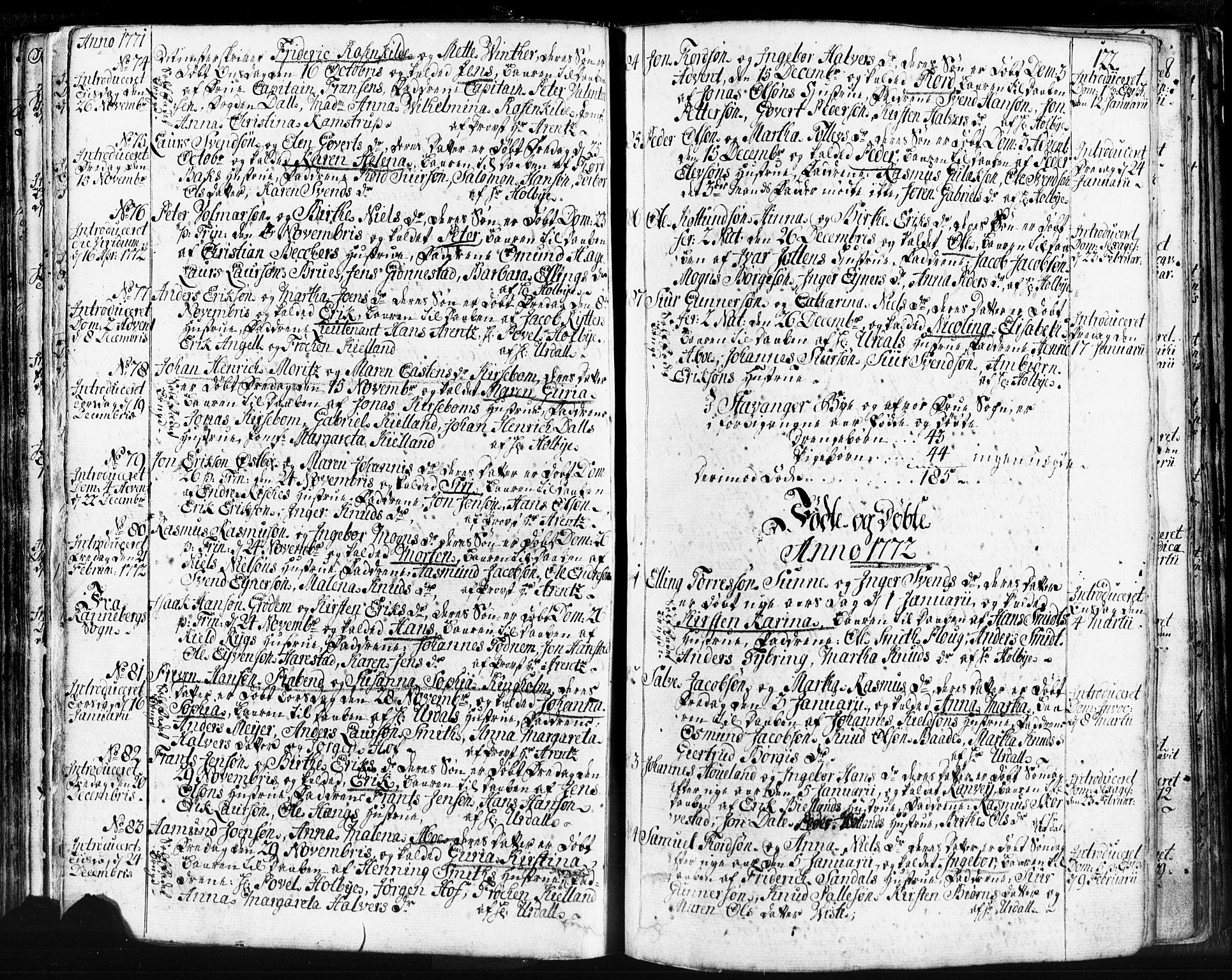 SAST, Domkirken sokneprestkontor, 30/30BB/L0004: Klokkerbok nr. B 4, 1752-1790, s. 122