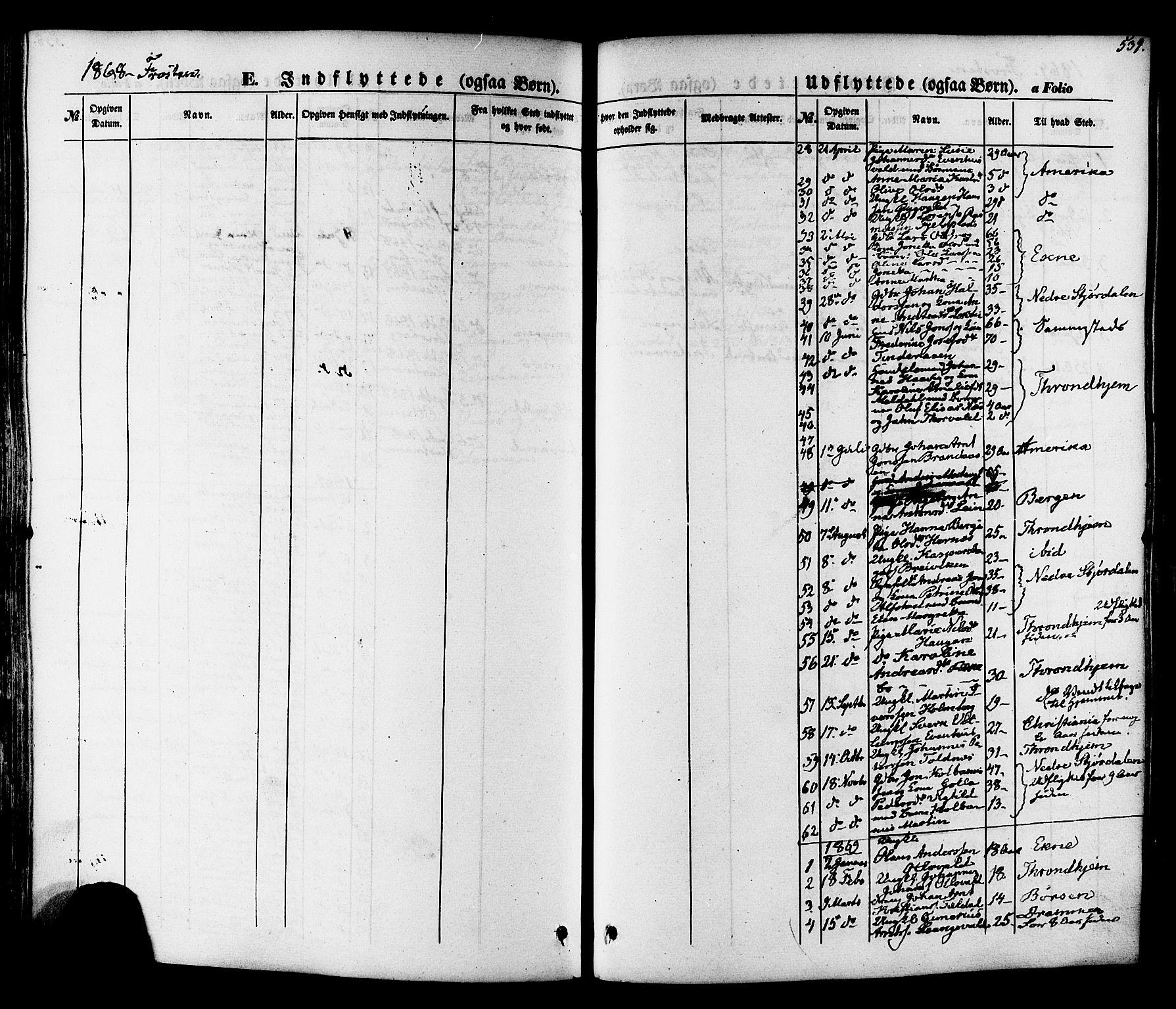 SAT, Ministerialprotokoller, klokkerbøker og fødselsregistre - Nord-Trøndelag, 713/L0116: Ministerialbok nr. 713A07 /1, 1850-1877, s. 539