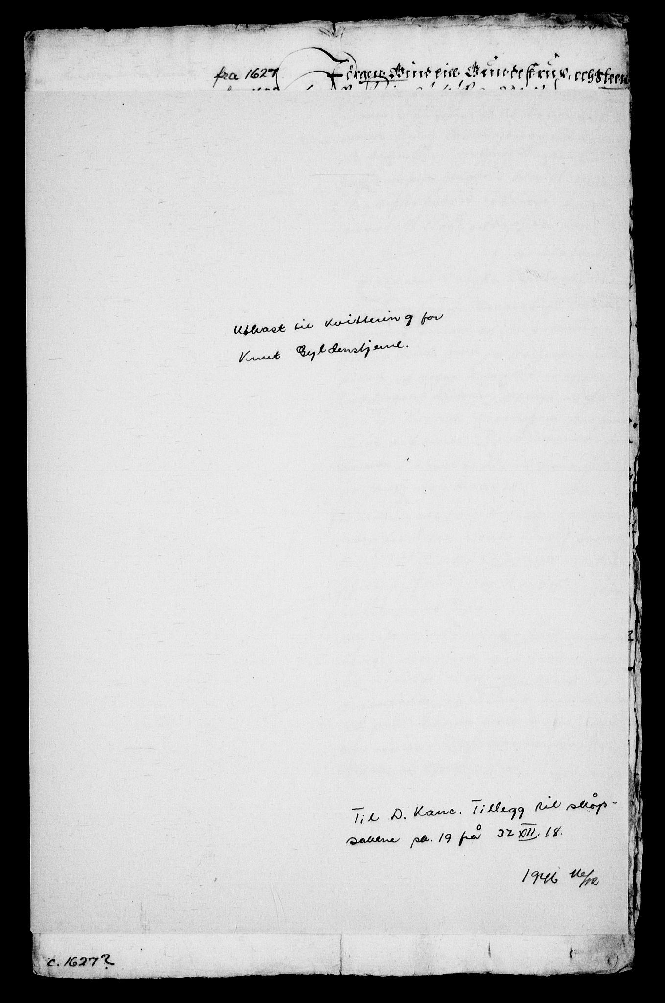 RA, Danske Kanselli, Skapsaker, G/L0019: Tillegg til skapsakene, 1616-1753, s. 62