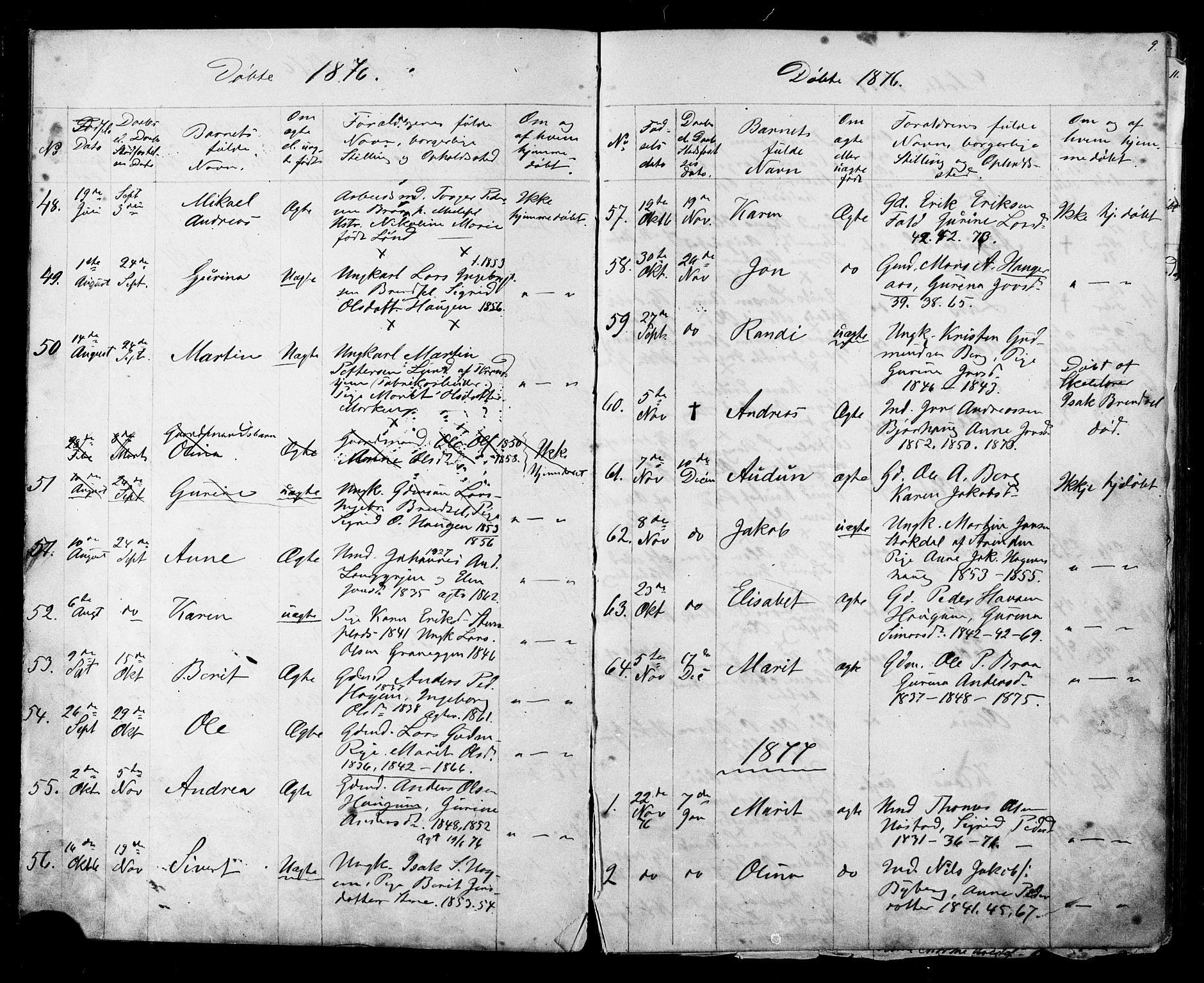 SAT, Ministerialprotokoller, klokkerbøker og fødselsregistre - Sør-Trøndelag, 612/L0387: Klokkerbok nr. 612C03, 1874-1908, s. 9
