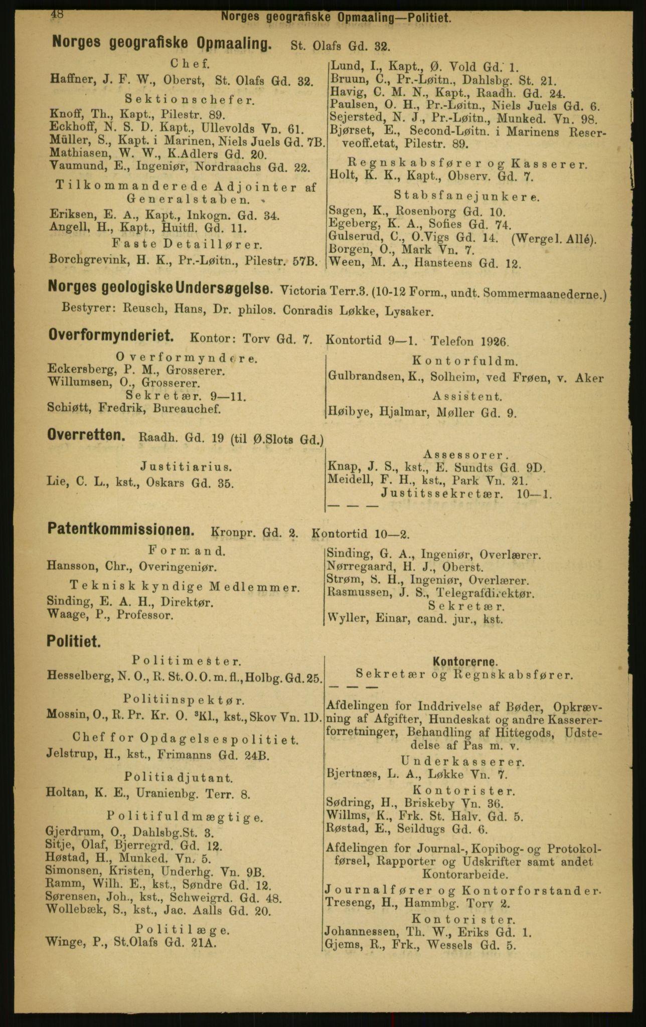 PUBL, Kristiania/Oslo adressebok, 1897, s. 48