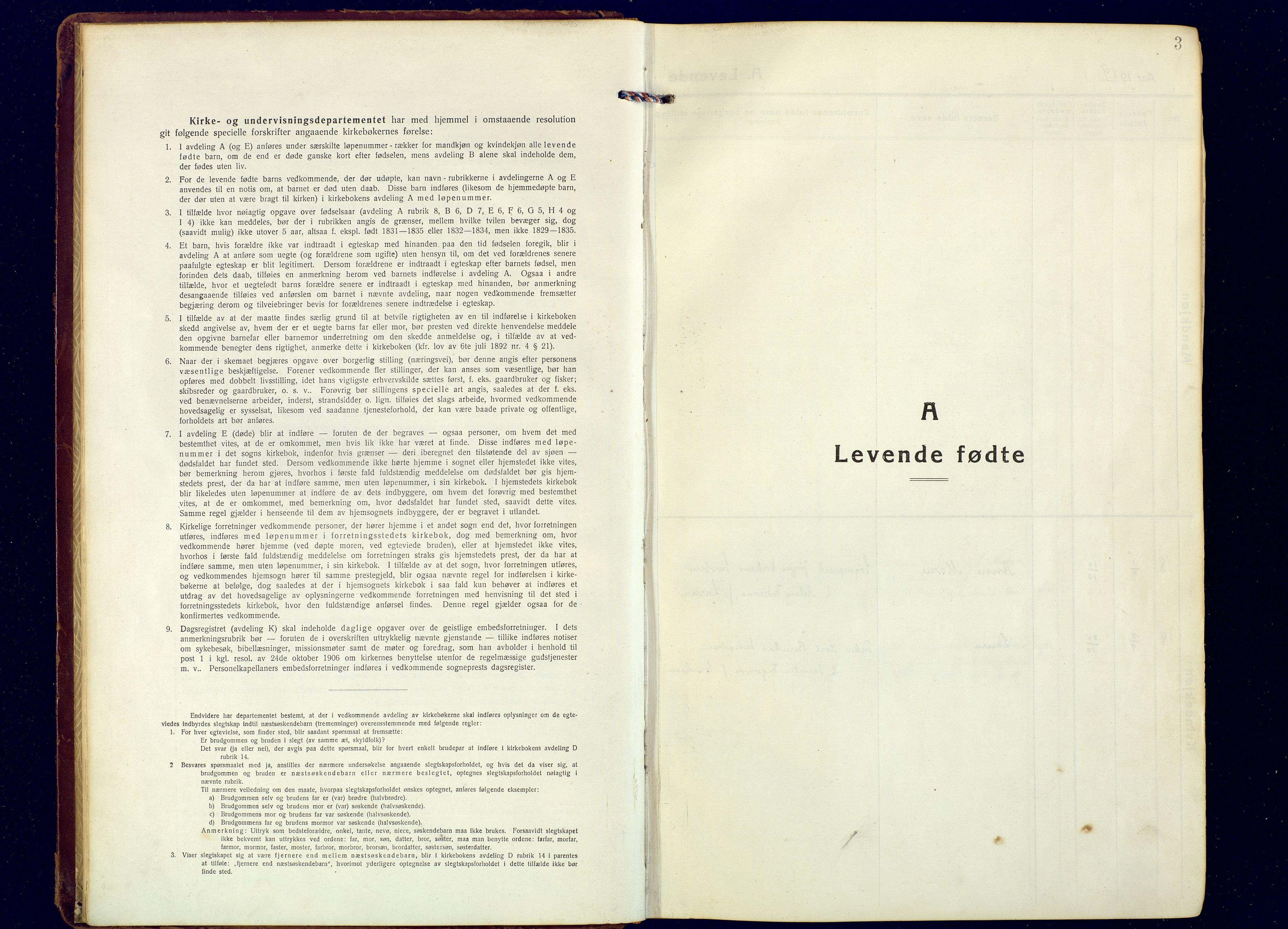 SATØ, Tranøy sokneprestkontor, I/Ia/Iaa: Ministerialbok nr. 16, 1919-1932, s. 3