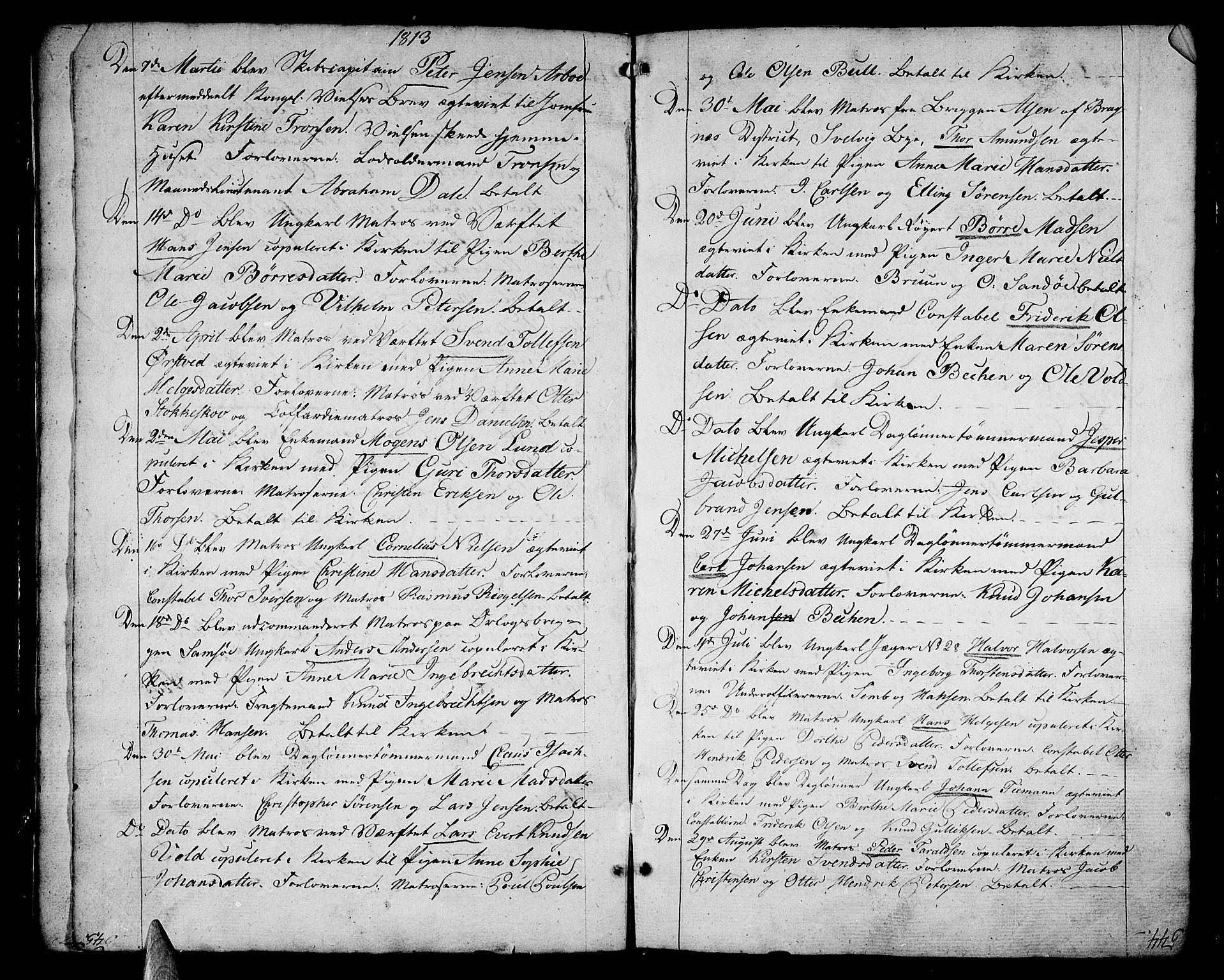 SAKO, Stavern kirkebøker, F/Fa/L0004: Ministerialbok nr. 4, 1809-1816, s. 544-545