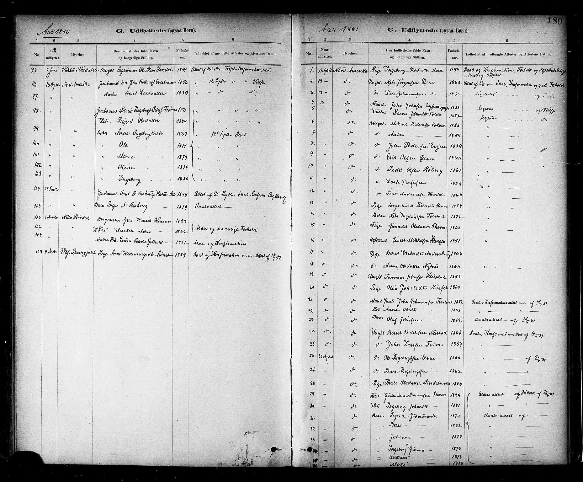 SAT, Ministerialprotokoller, klokkerbøker og fødselsregistre - Nord-Trøndelag, 706/L0047: Ministerialbok nr. 706A03, 1878-1892, s. 189
