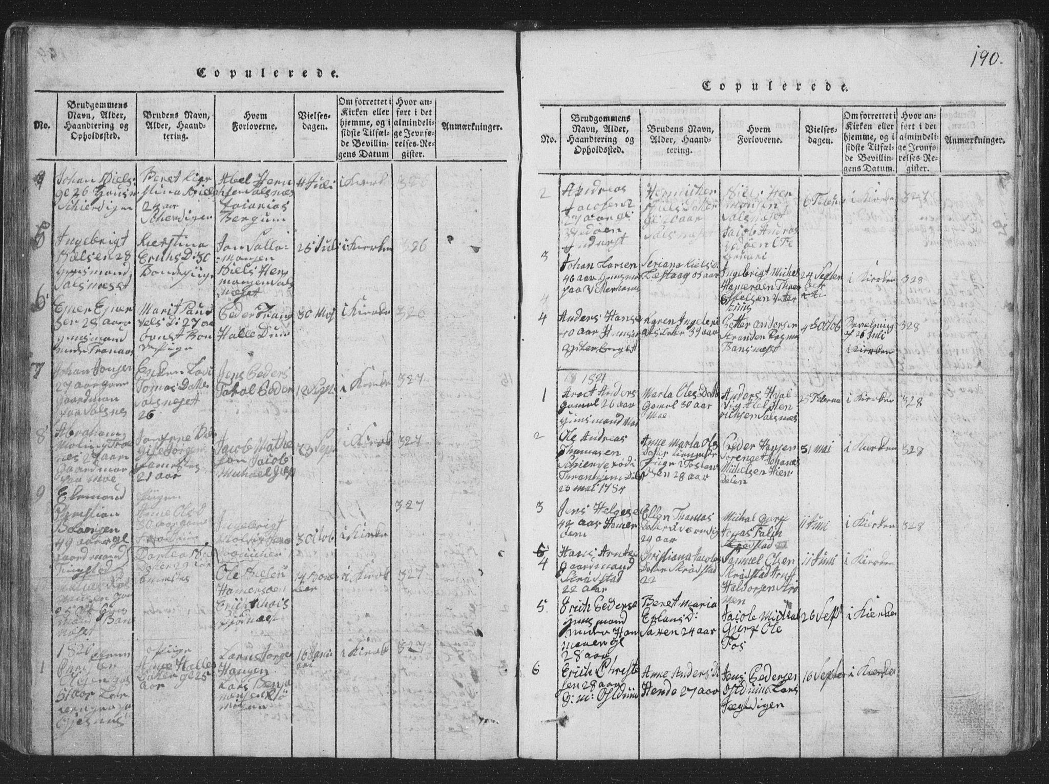 SAT, Ministerialprotokoller, klokkerbøker og fødselsregistre - Nord-Trøndelag, 773/L0613: Ministerialbok nr. 773A04, 1815-1845, s. 190