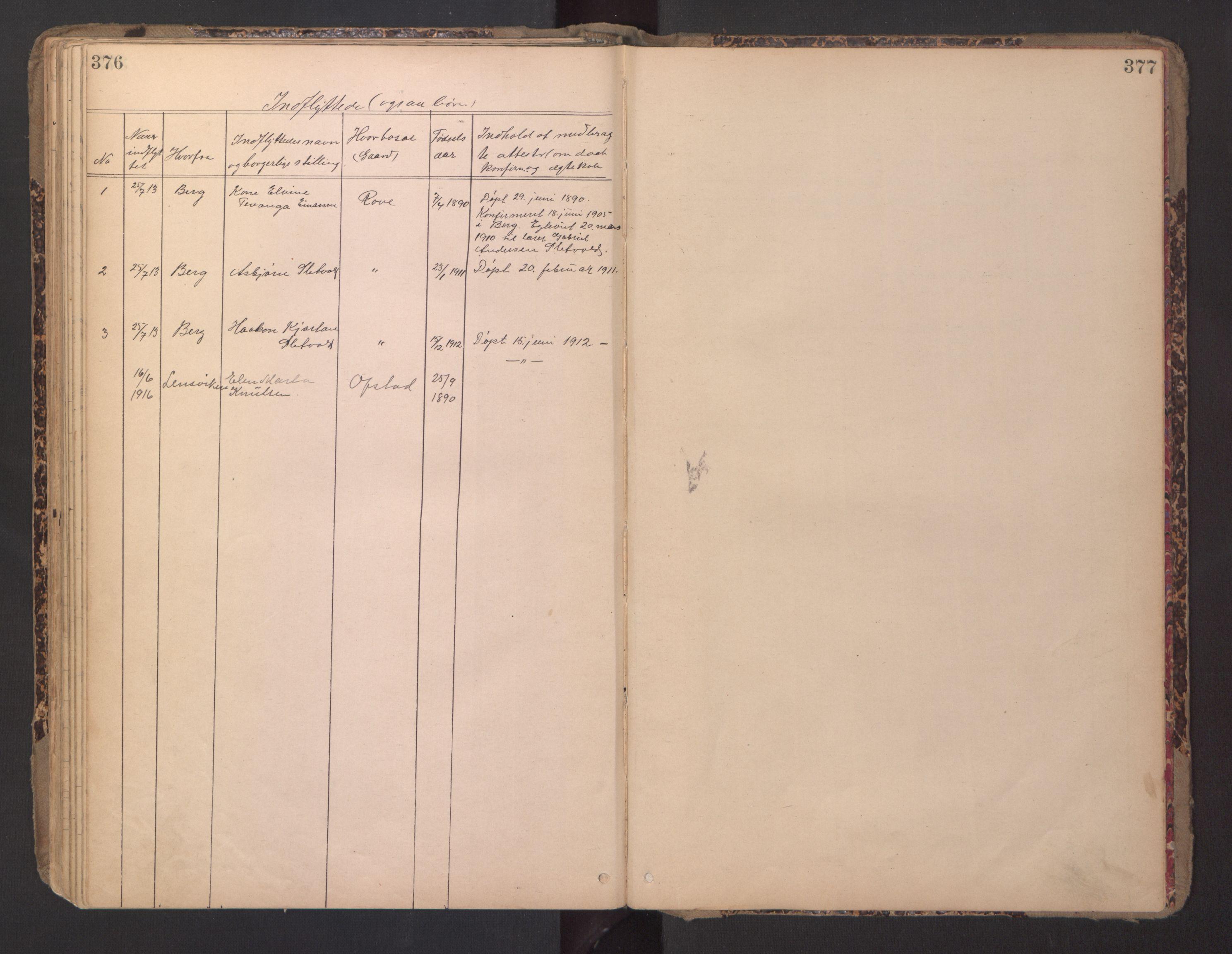 SAT, Ministerialprotokoller, klokkerbøker og fødselsregistre - Sør-Trøndelag, 670/L0837: Klokkerbok nr. 670C01, 1905-1946, s. 376-377