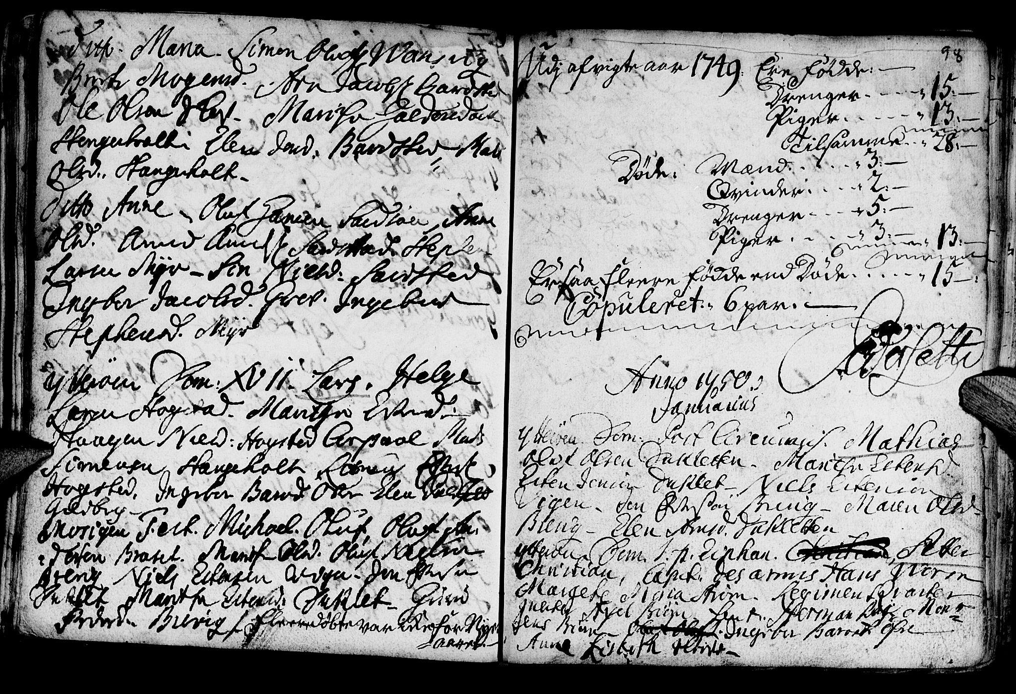 SAT, Ministerialprotokoller, klokkerbøker og fødselsregistre - Nord-Trøndelag, 722/L0215: Ministerialbok nr. 722A02, 1718-1755, s. 98
