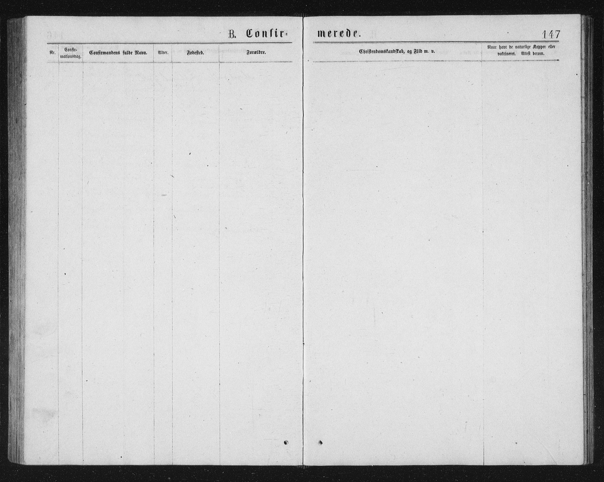 SAT, Ministerialprotokoller, klokkerbøker og fødselsregistre - Sør-Trøndelag, 662/L0756: Klokkerbok nr. 662C01, 1869-1891, s. 147
