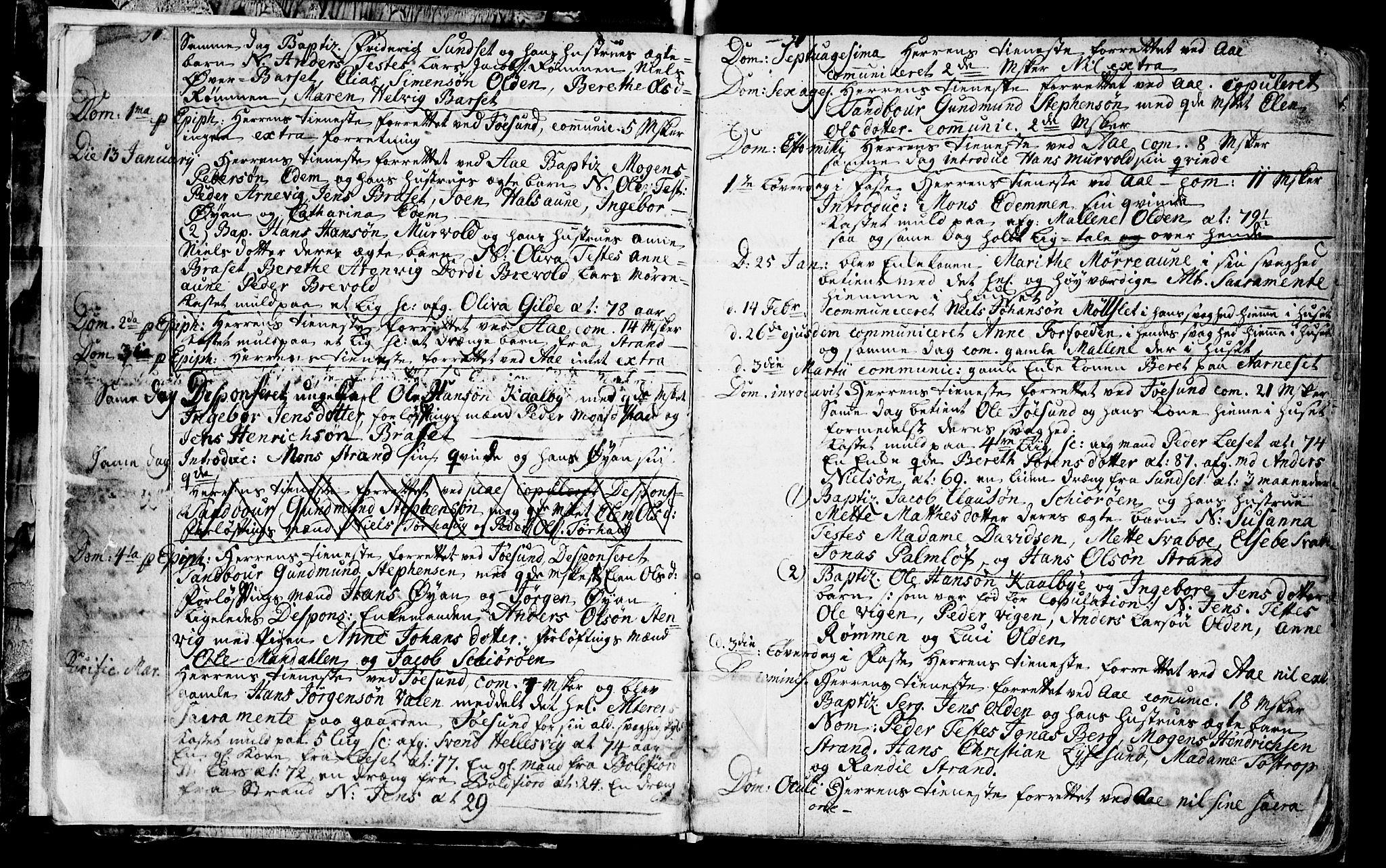 SAT, Ministerialprotokoller, klokkerbøker og fødselsregistre - Sør-Trøndelag, 655/L0672: Ministerialbok nr. 655A01, 1750-1779, s. 4-5