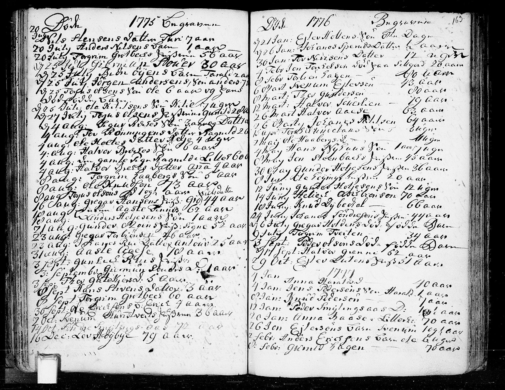 SAKO, Heddal kirkebøker, F/Fa/L0003: Ministerialbok nr. I 3, 1723-1783, s. 163