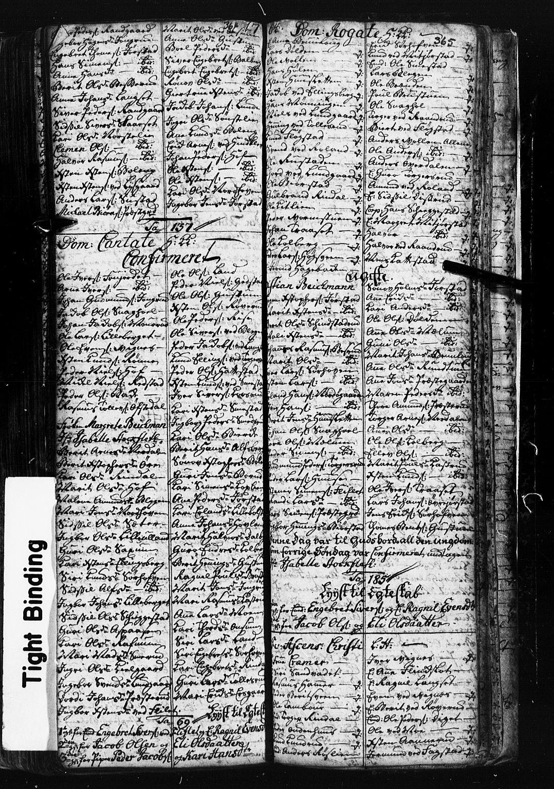 SAH, Fåberg prestekontor, Klokkerbok nr. 1, 1727-1767, s. 364-365