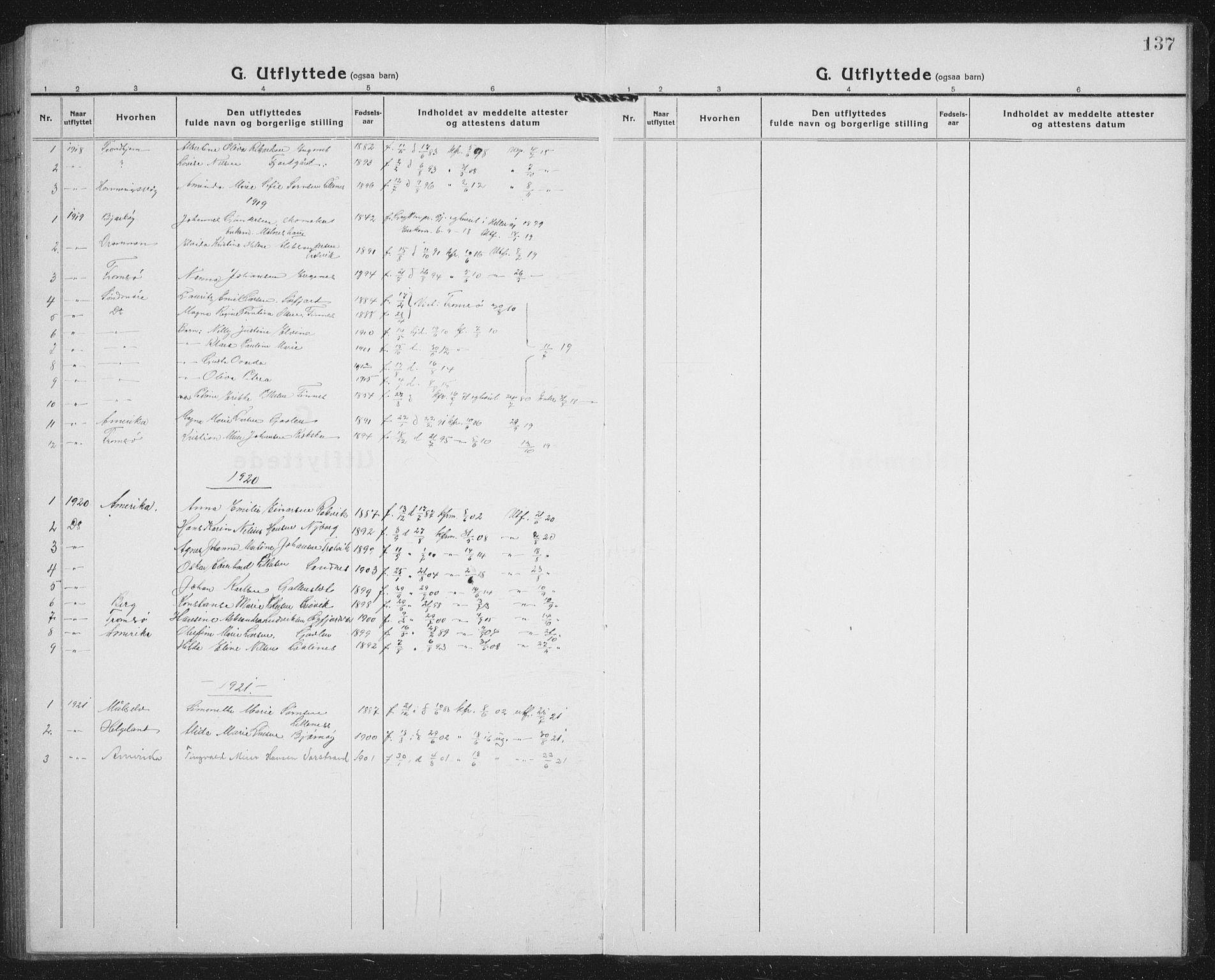 SATØ, Lenvik sokneprestembete, H/Ha/Hab/L0023klokker: Klokkerbok nr. 23, 1918-1936, s. 137