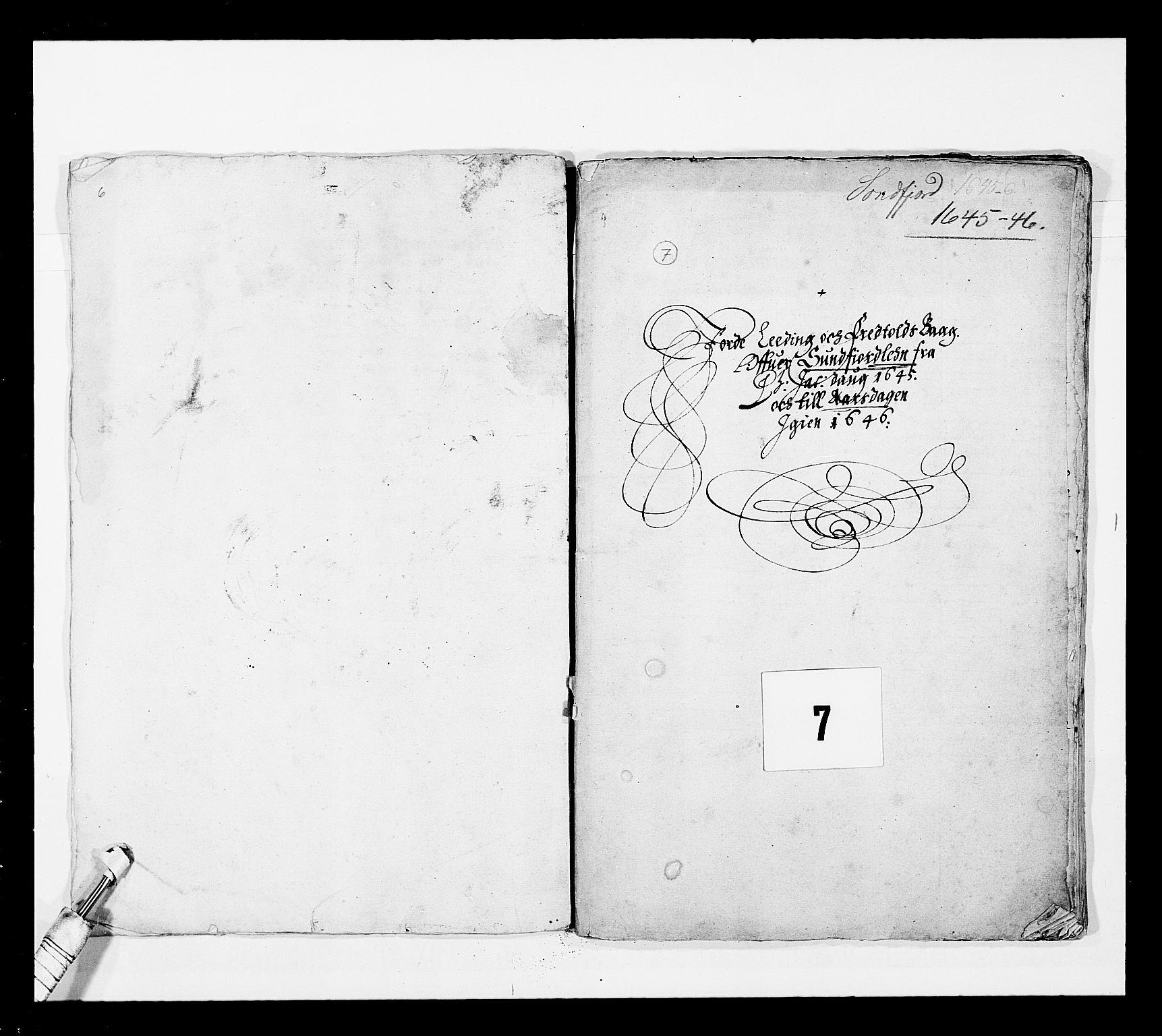 RA, Stattholderembetet 1572-1771, Ek/L0025: Jordebøker 1633-1658:, 1645-1646, s. 149
