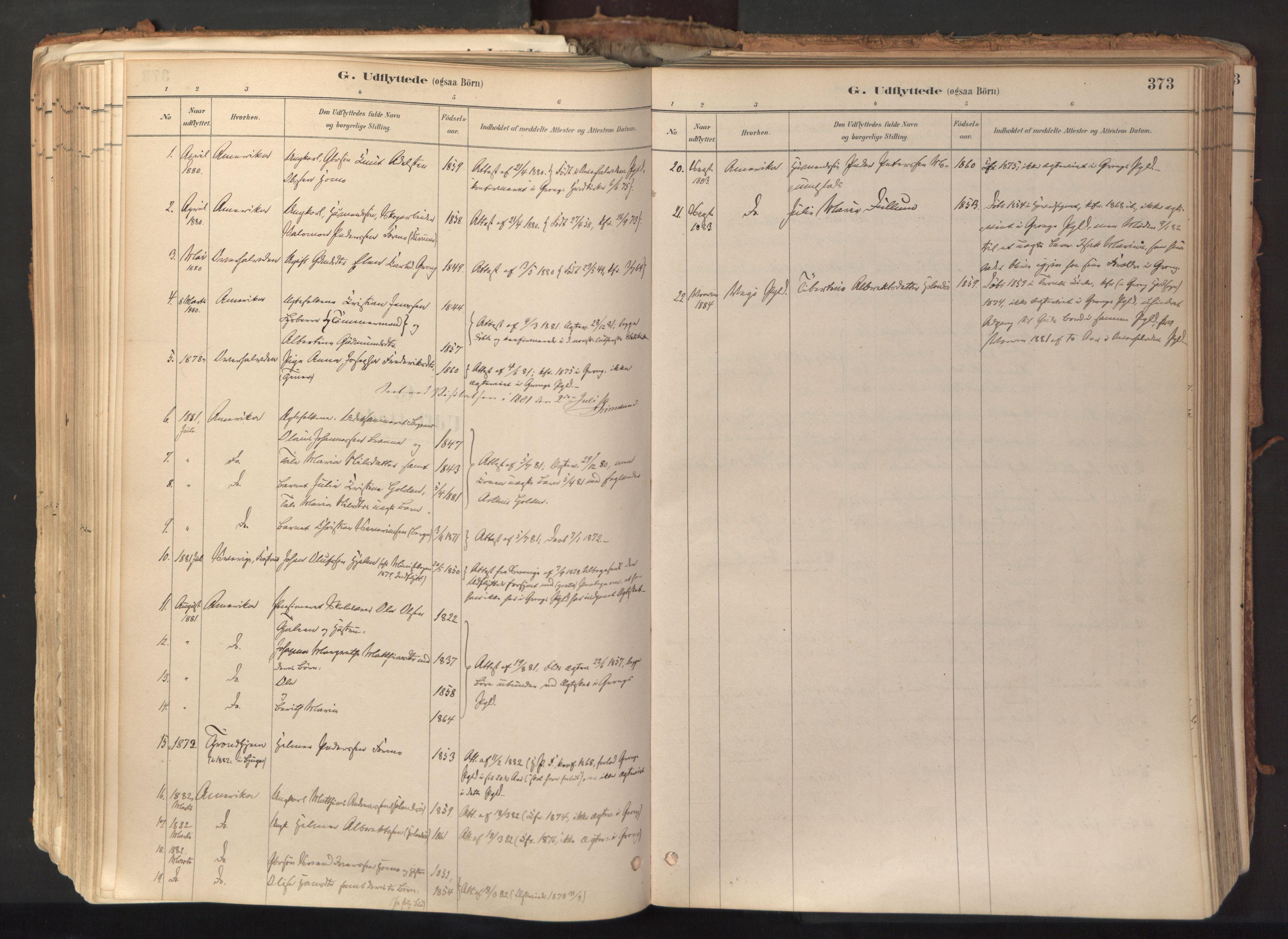SAT, Ministerialprotokoller, klokkerbøker og fødselsregistre - Nord-Trøndelag, 758/L0519: Ministerialbok nr. 758A04, 1880-1926, s. 373