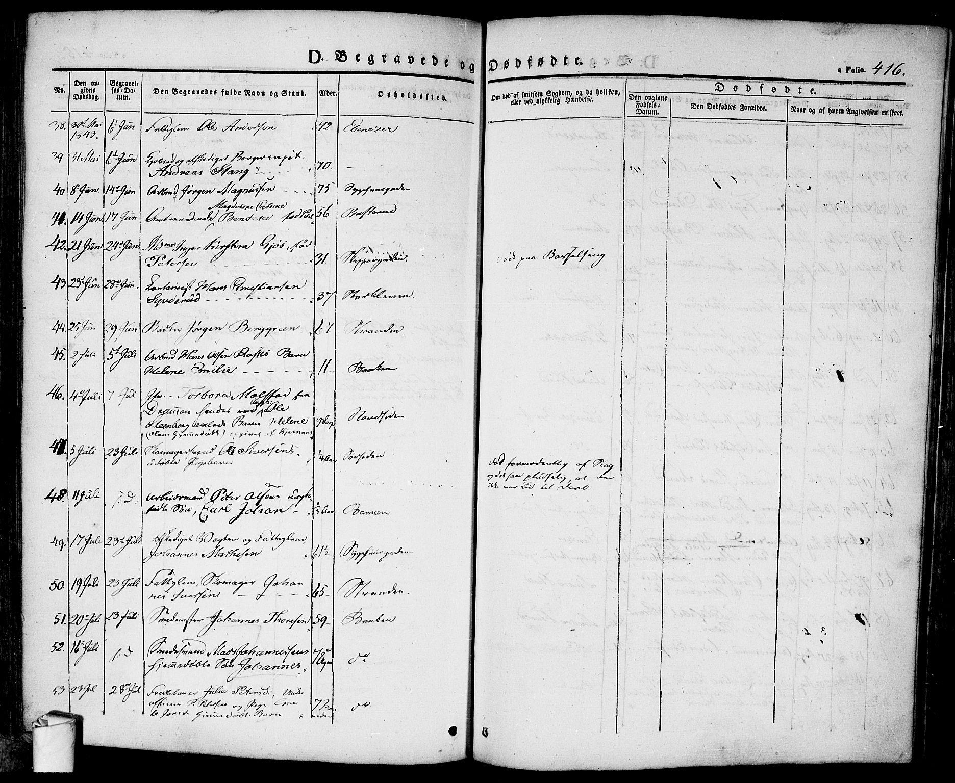 SAO, Halden prestekontor Kirkebøker, F/Fa/L0005: Ministerialbok nr. I 5, 1834-1845, s. 416