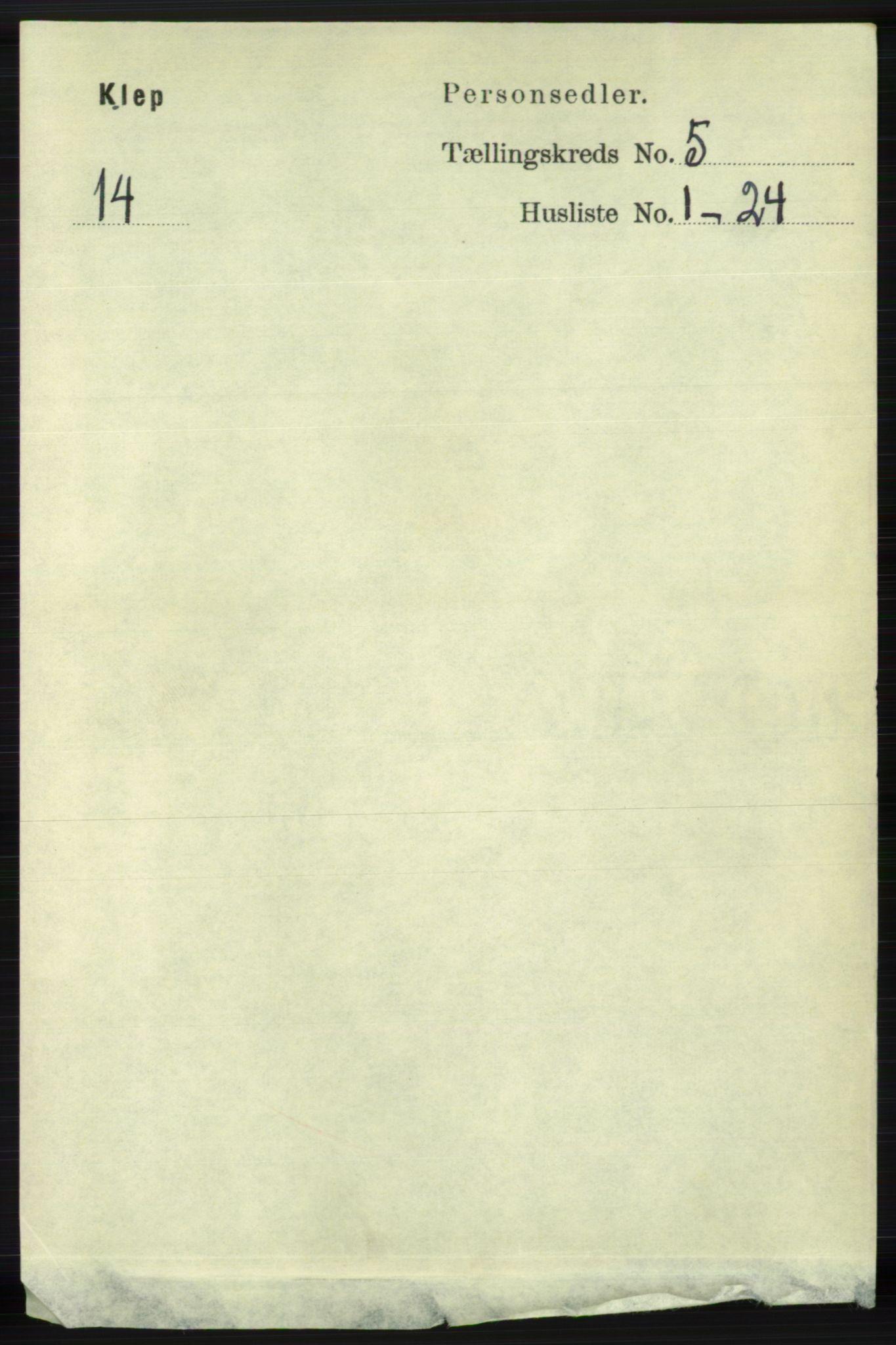 RA, Folketelling 1891 for 1120 Klepp herred, 1891, s. 1339