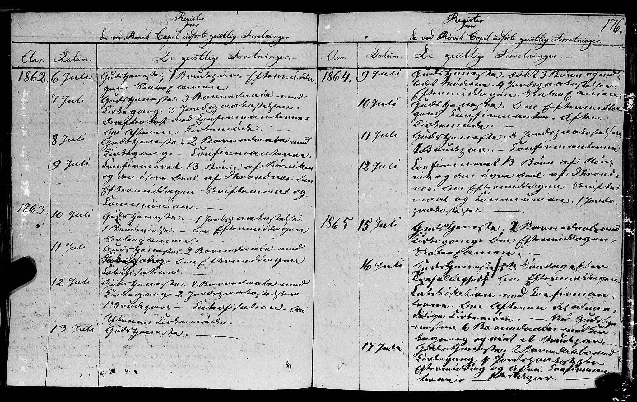 SAT, Ministerialprotokoller, klokkerbøker og fødselsregistre - Nord-Trøndelag, 762/L0538: Ministerialbok nr. 762A02 /1, 1833-1879, s. 176