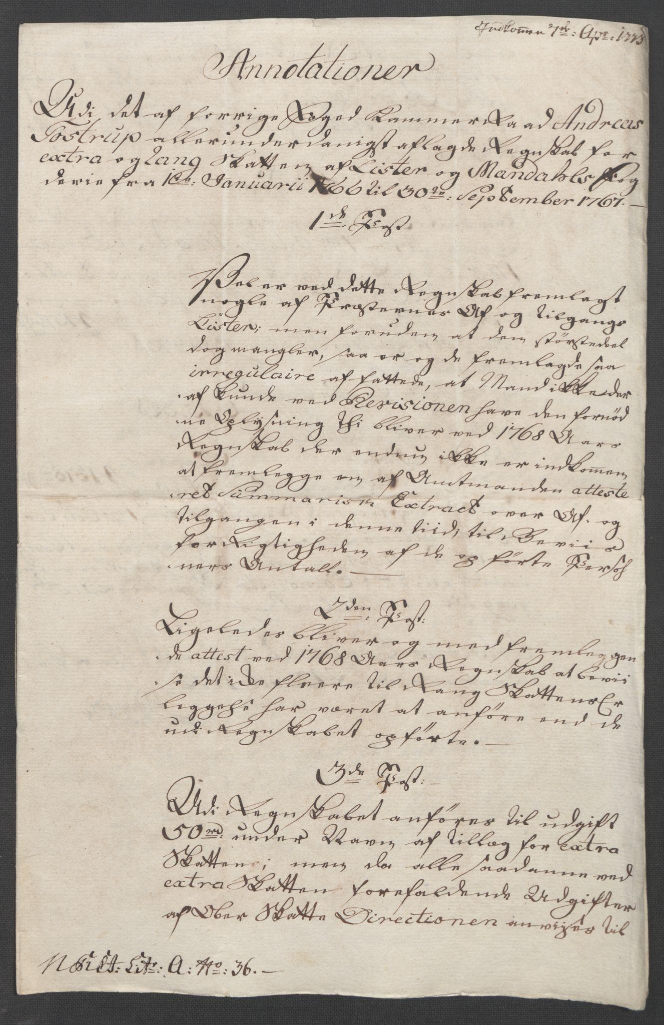 RA, Rentekammeret inntil 1814, Reviderte regnskaper, Fogderegnskap, R45/L2704: Ekstraskatten Lista og Mandal, 1762-1768, s. 232