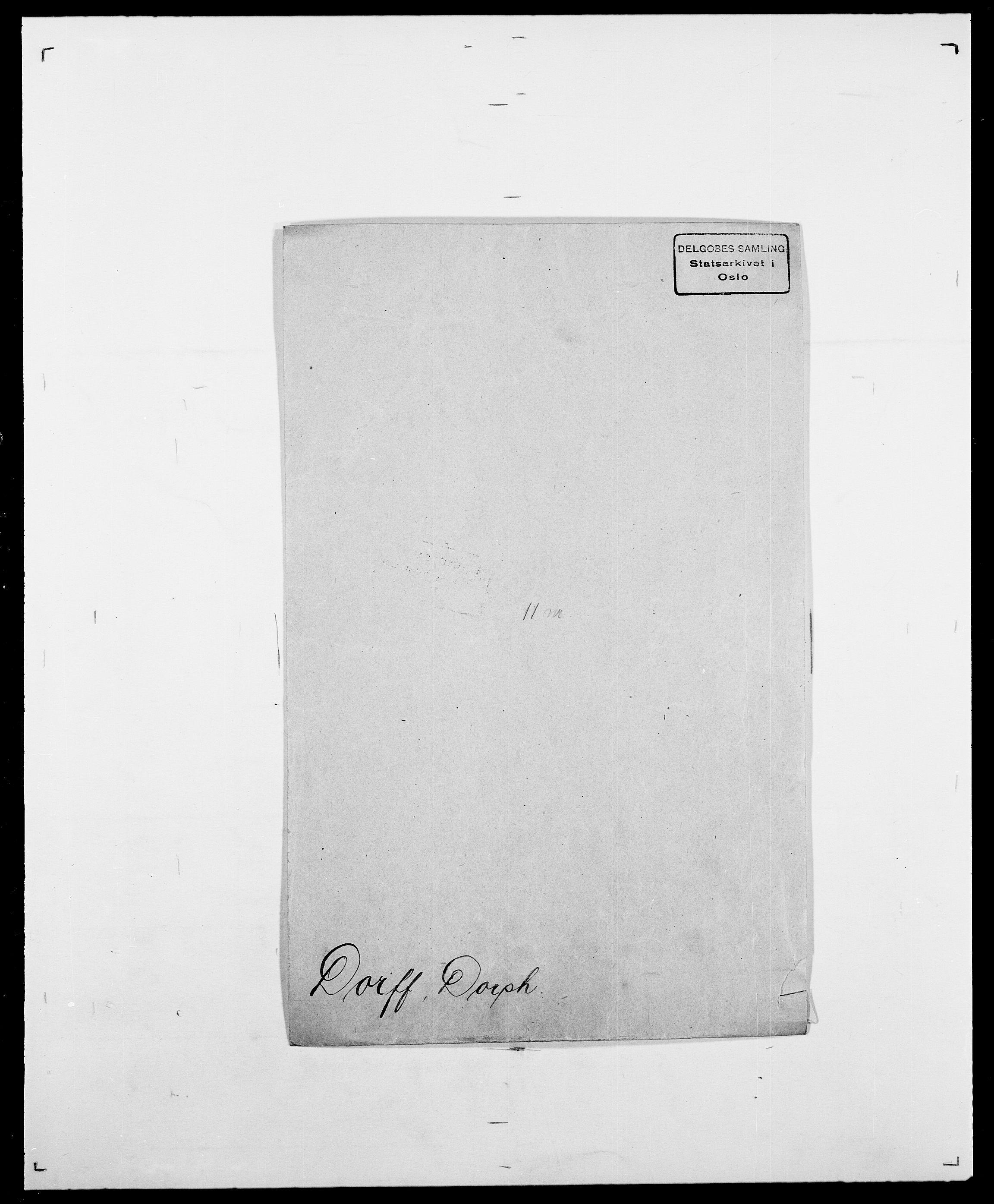 SAO, Delgobe, Charles Antoine - samling, D/Da/L0009: Dahl - v. Düren, s. 676