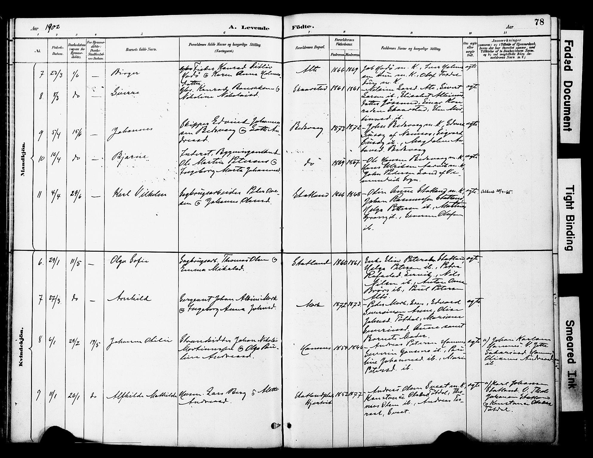 SAT, Ministerialprotokoller, klokkerbøker og fødselsregistre - Nord-Trøndelag, 774/L0628: Ministerialbok nr. 774A02, 1887-1903, s. 78