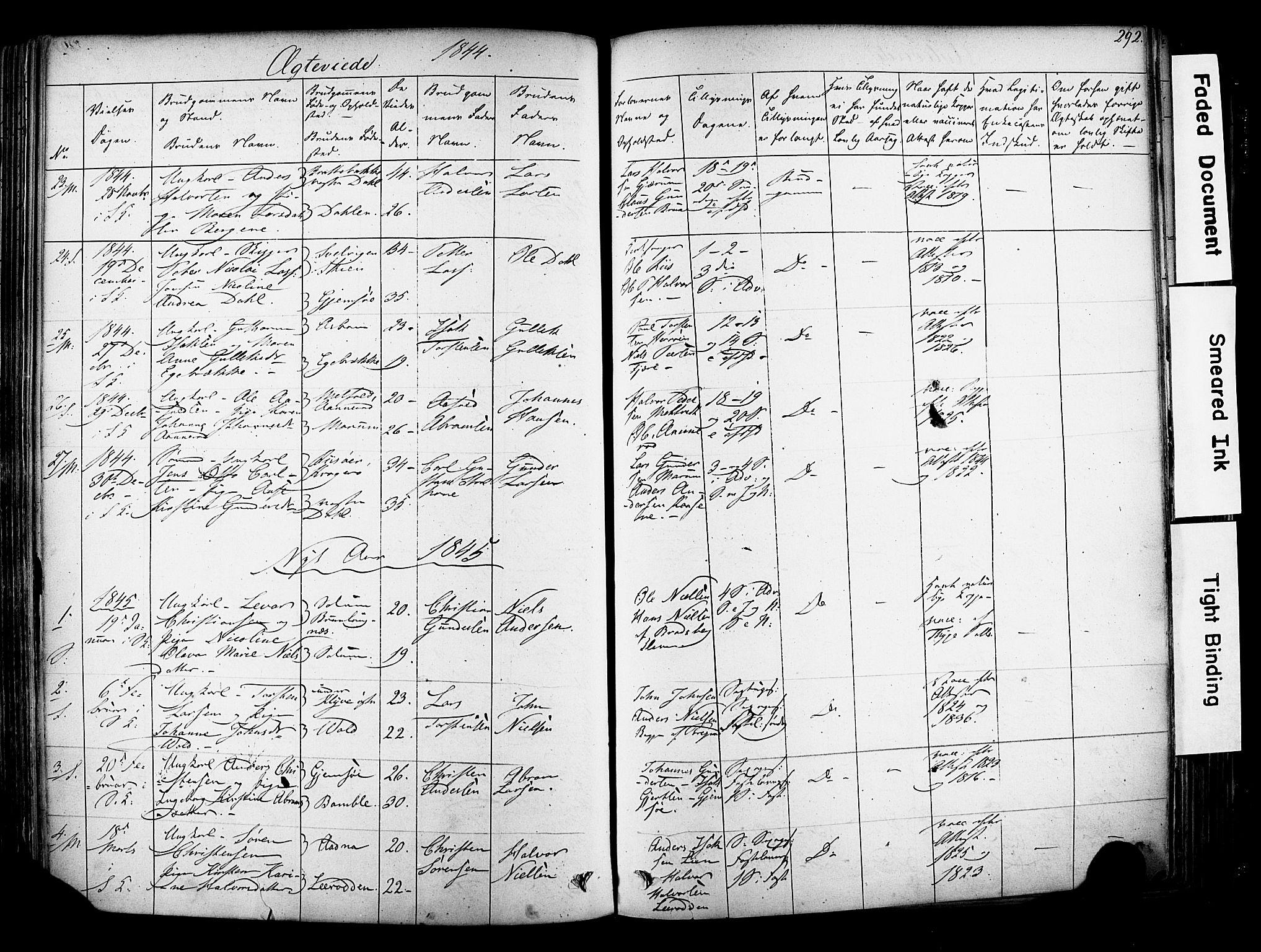 SAKO, Solum kirkebøker, F/Fa/L0006: Ministerialbok nr. I 6, 1844-1855, s. 292
