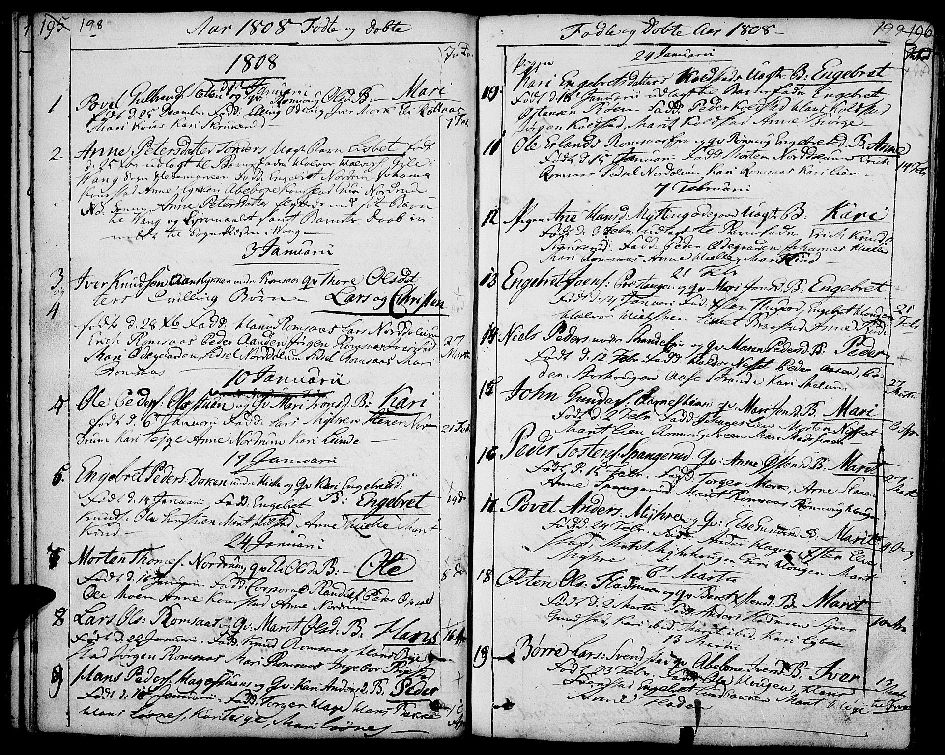 SAH, Ringebu prestekontor, Ministerialbok nr. 3, 1781-1820, s. 198-199
