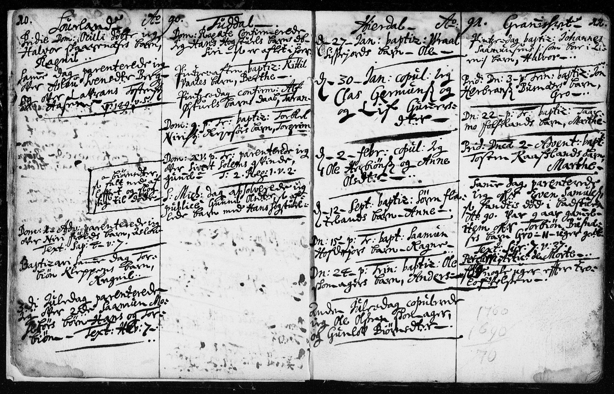 SAKO, Hjartdal kirkebøker, F/Fa/L0001: Ministerialbok nr. I 1, 1685-1714, s. 10-11