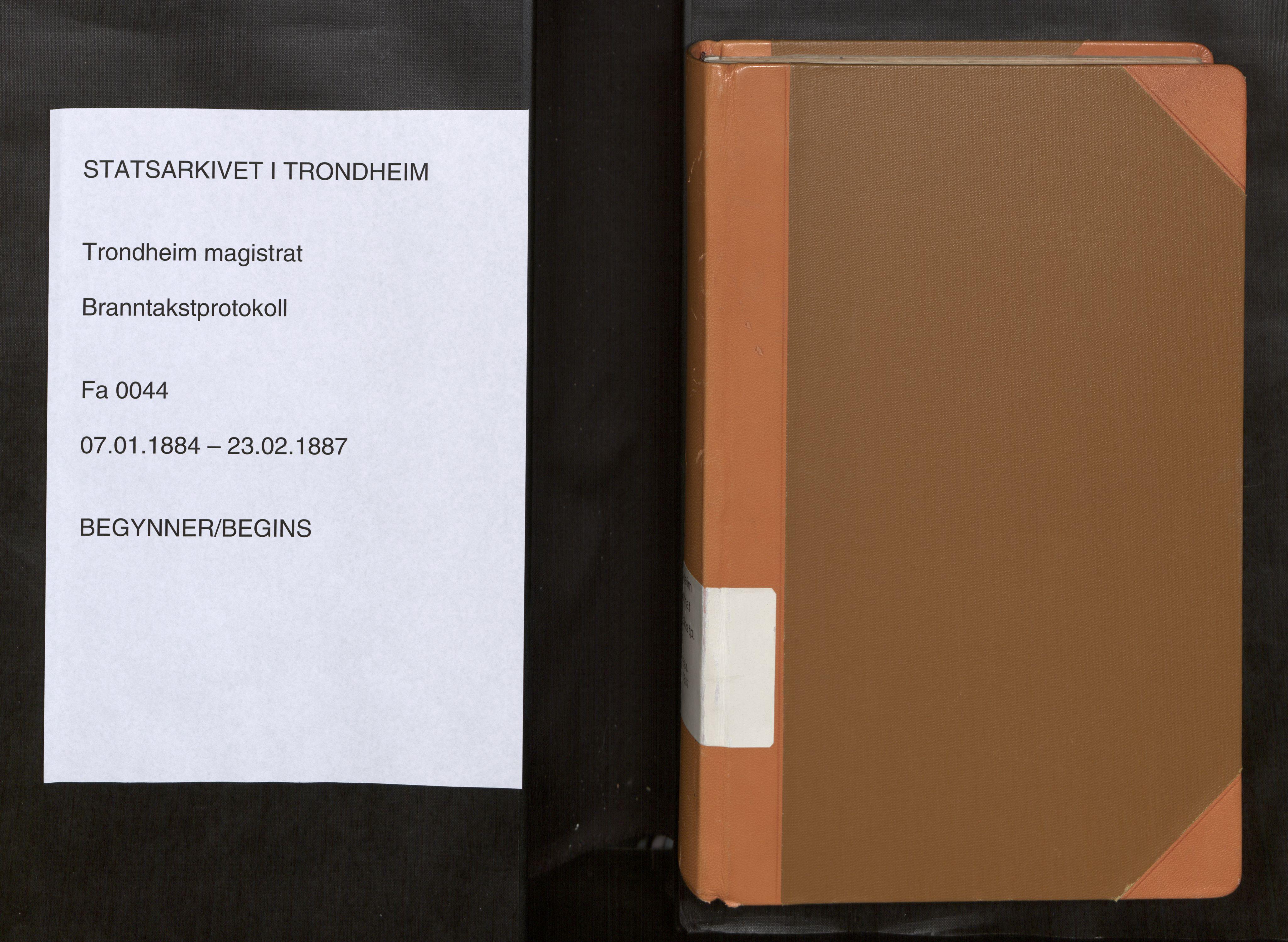 SAT, Norges Brannkasse Trondheim magistrat, Fa/L0050: Branntakstprotokoll O, 1884-1887