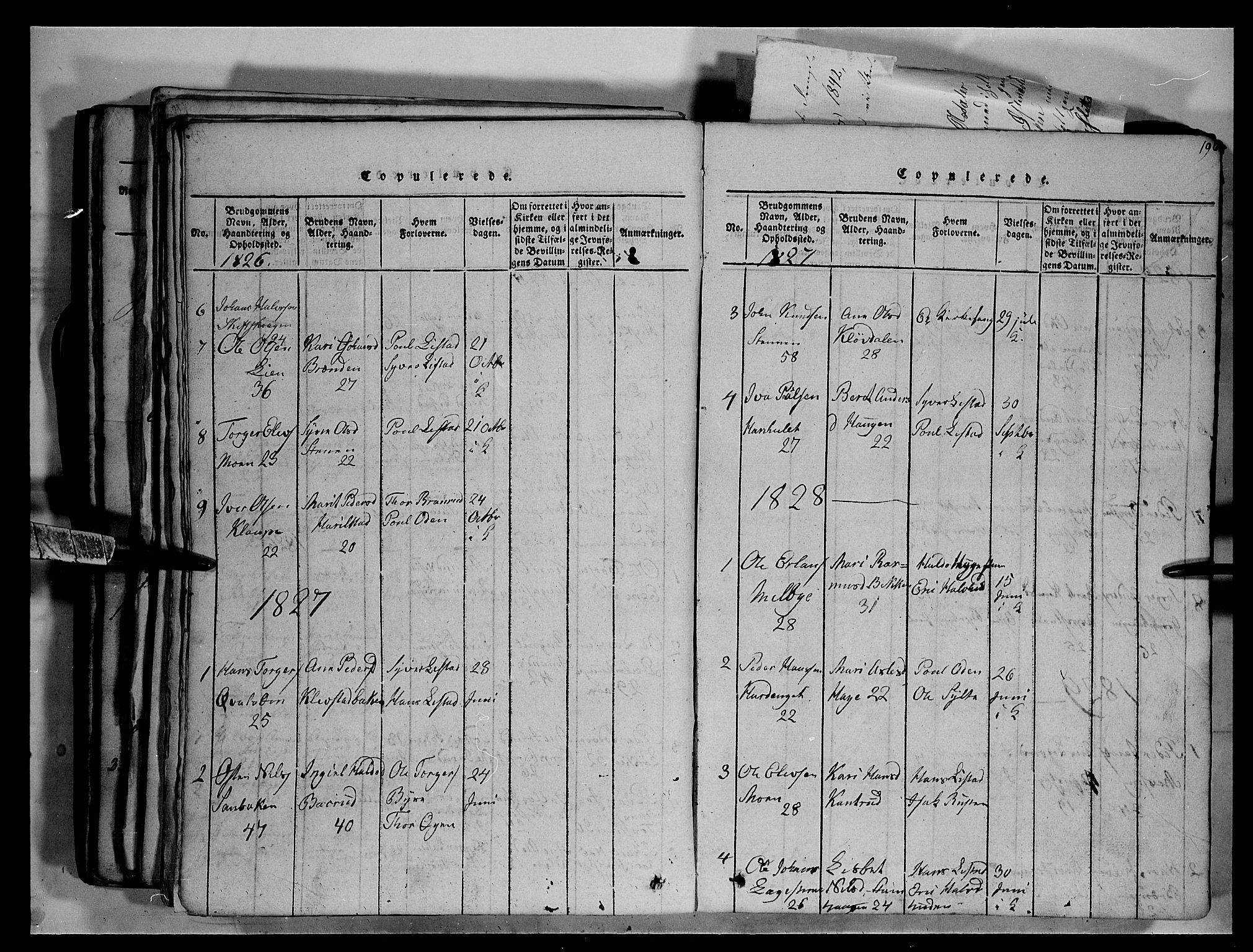 SAH, Fron prestekontor, H/Ha/Hab/L0003: Klokkerbok nr. 3, 1816-1850, s. 196